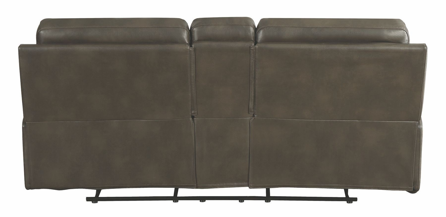 Trenton Motion Dark Grey Reclining Console Loveseat