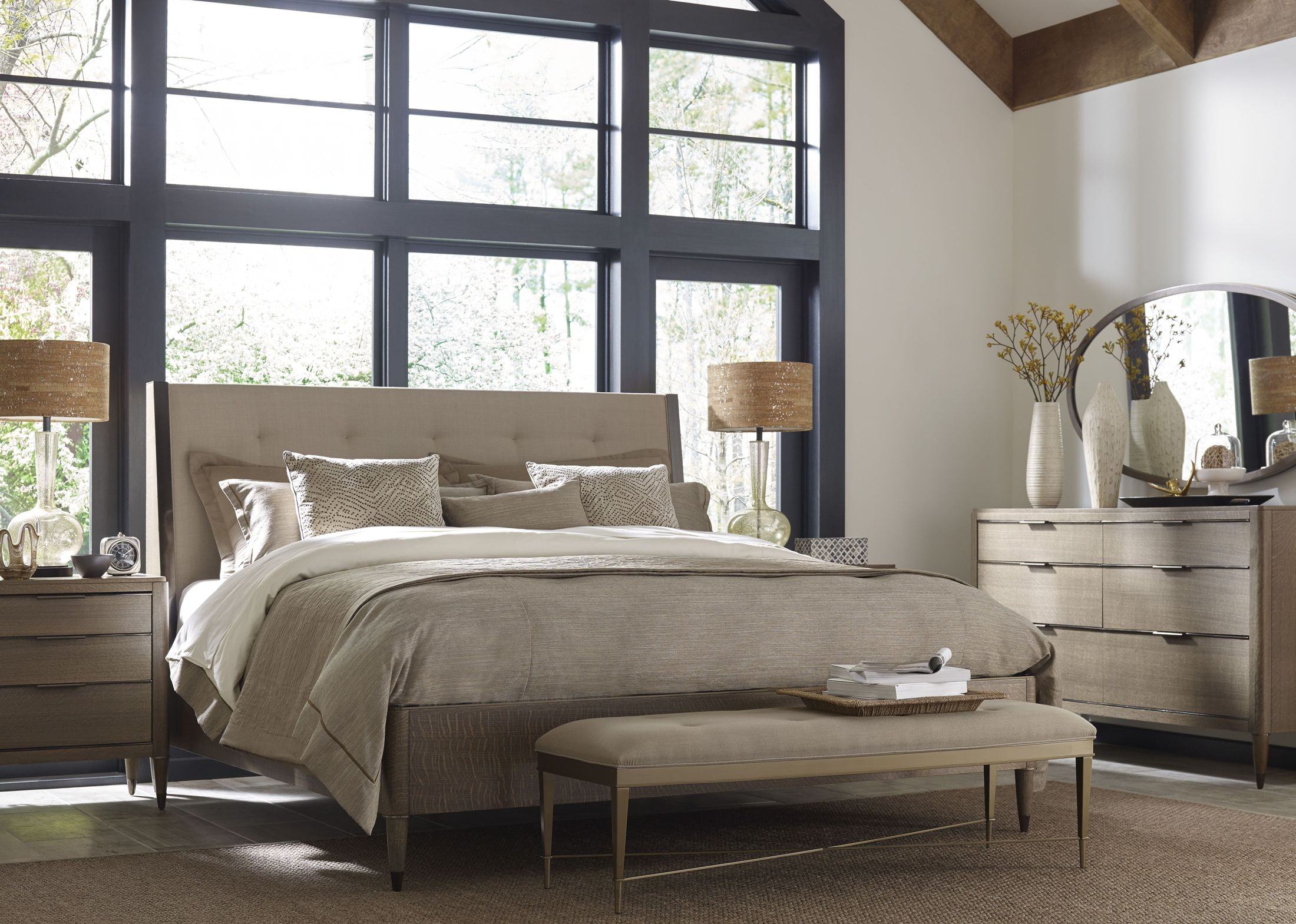 Ad Modern Classics Dark Oak Espresso Stain Samuel Platform Bedroom Set 603 313r American Drew