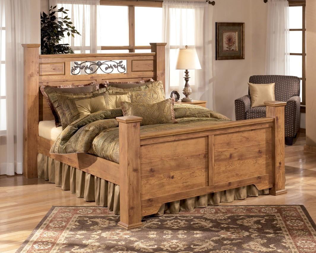 Ashley rustic bedroom furniture - Bittersweet Poster Bedroom Set From Ashley B219 77 Coleman Furniture