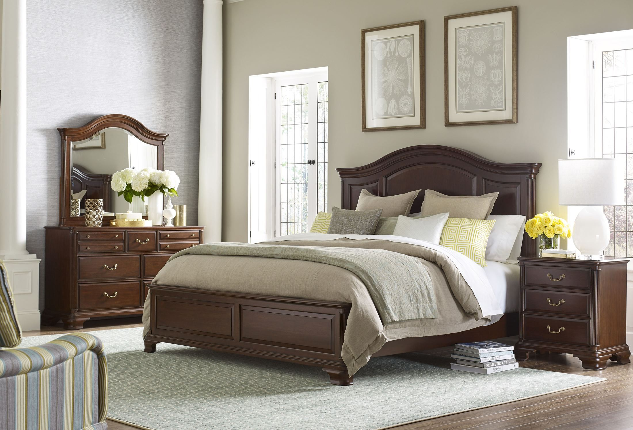 hadleigh panel bedroom set 607 313p kincaid