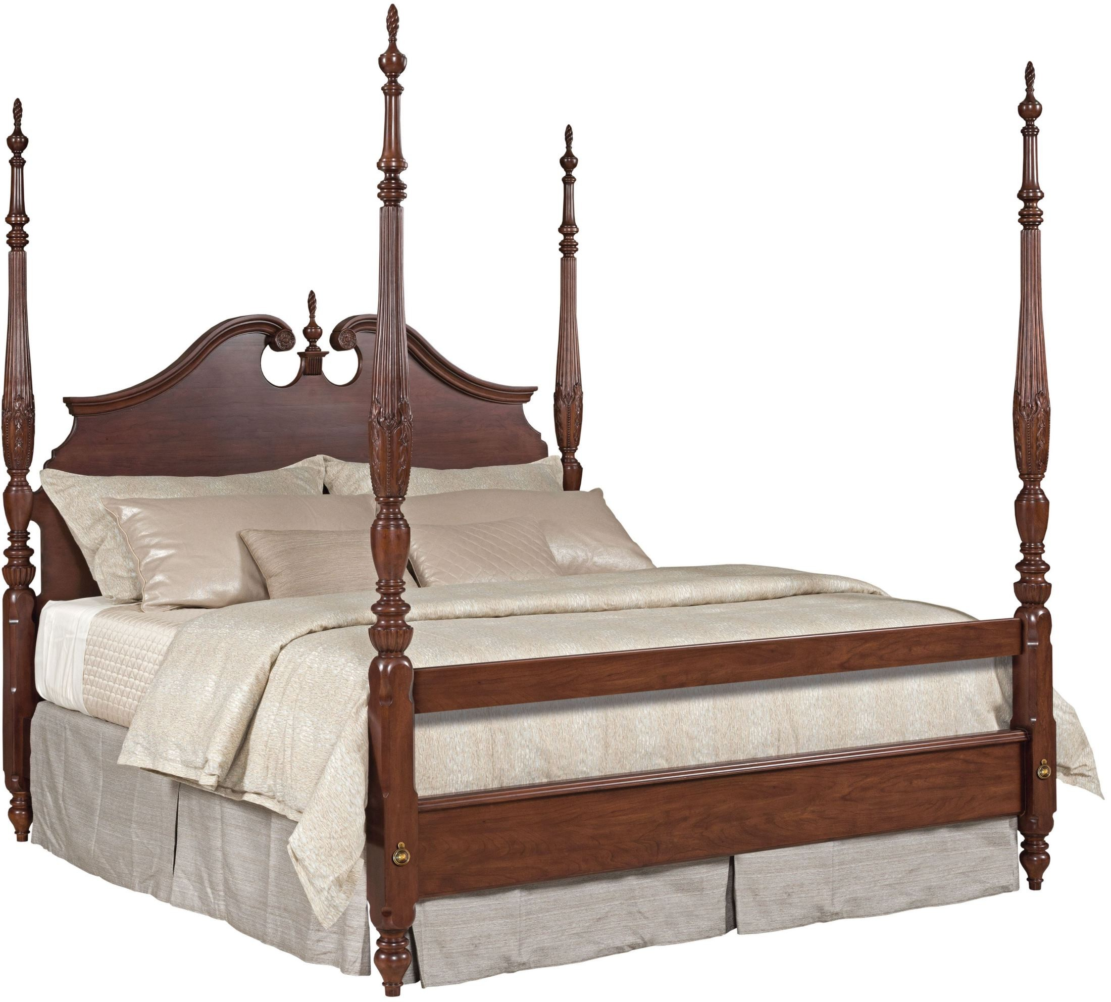 Hadleigh rice carved poster bedroom set p kincaid