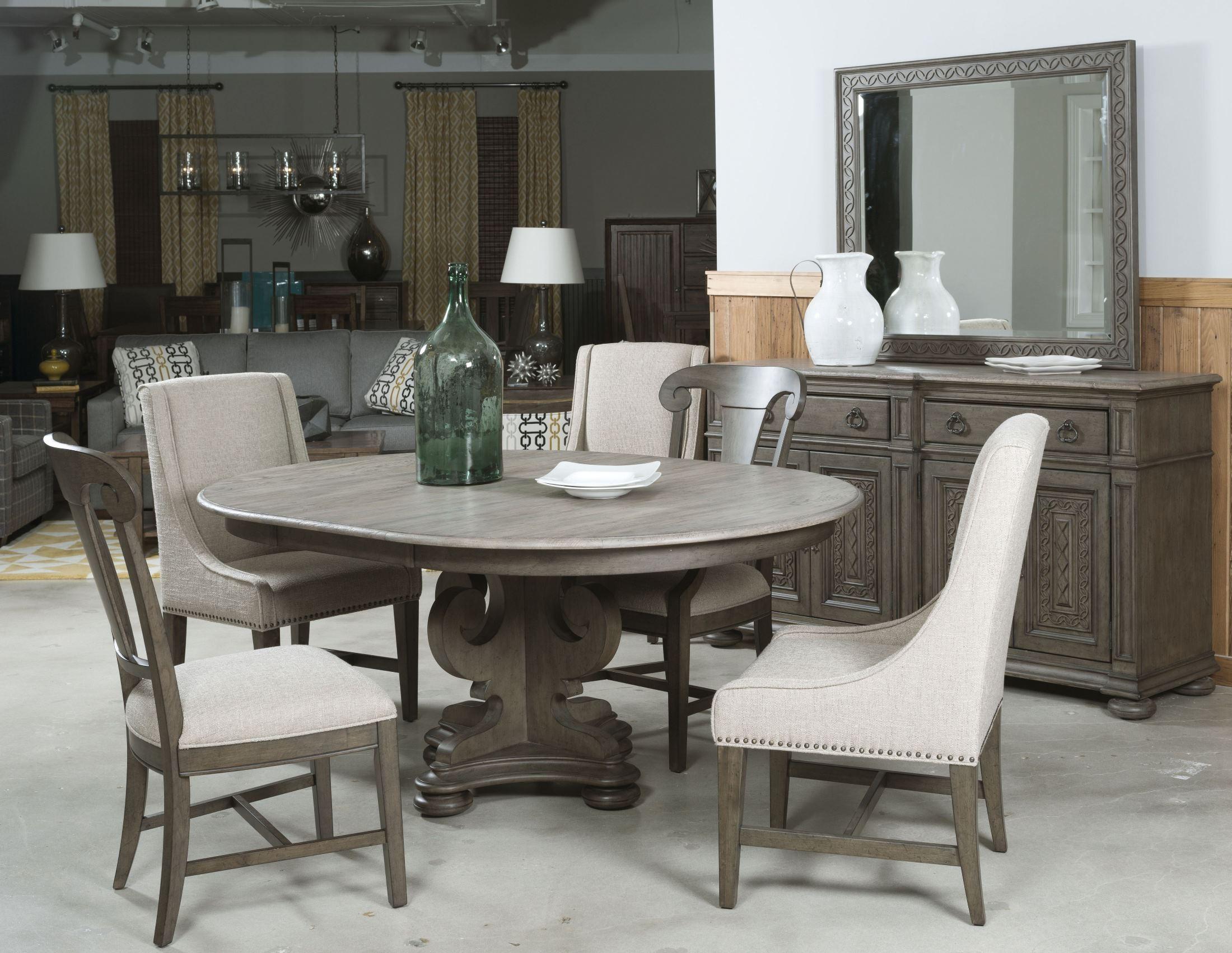 greyson grant round pedestal dining room set 608 701p kincaid