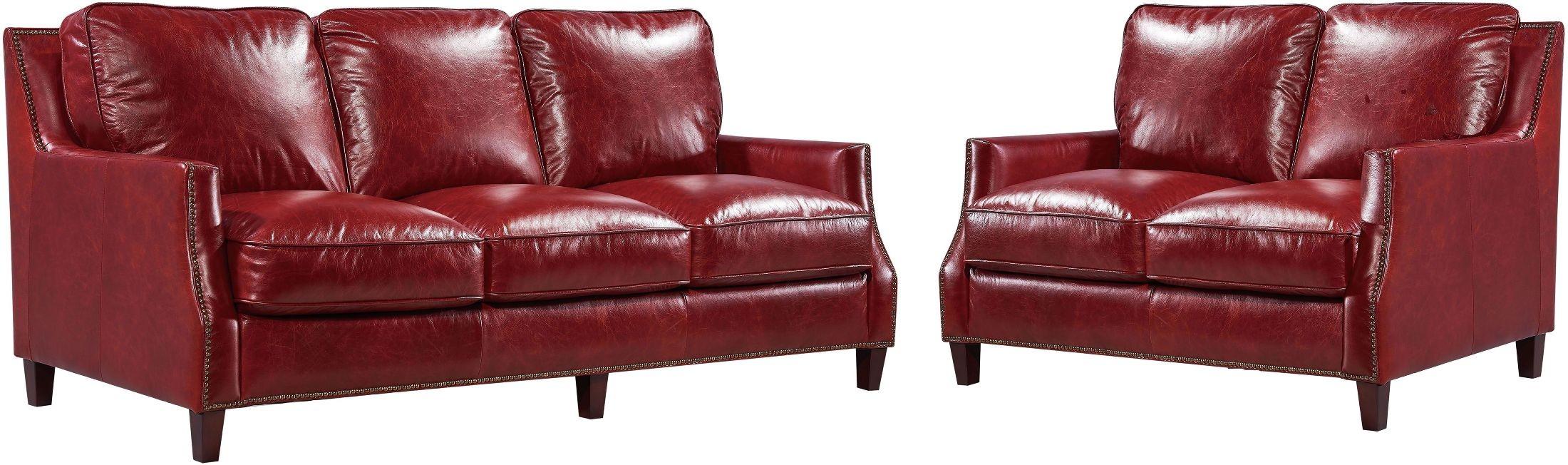 Oakridge Bedroom Furniture Georgetowne Oakridge Red Leather Living Room Set 1669 6103 035510