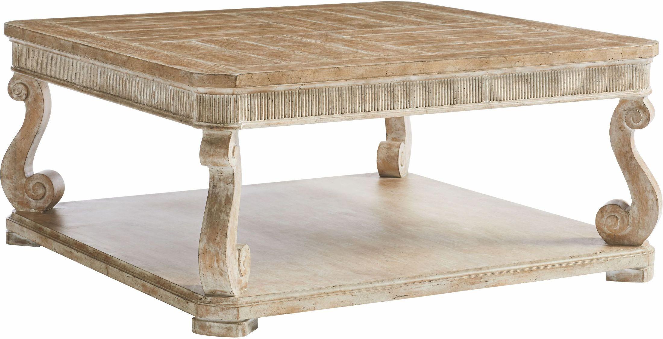 Juniper dell english clay square cocktail table 615 65 01 for Square cocktail table