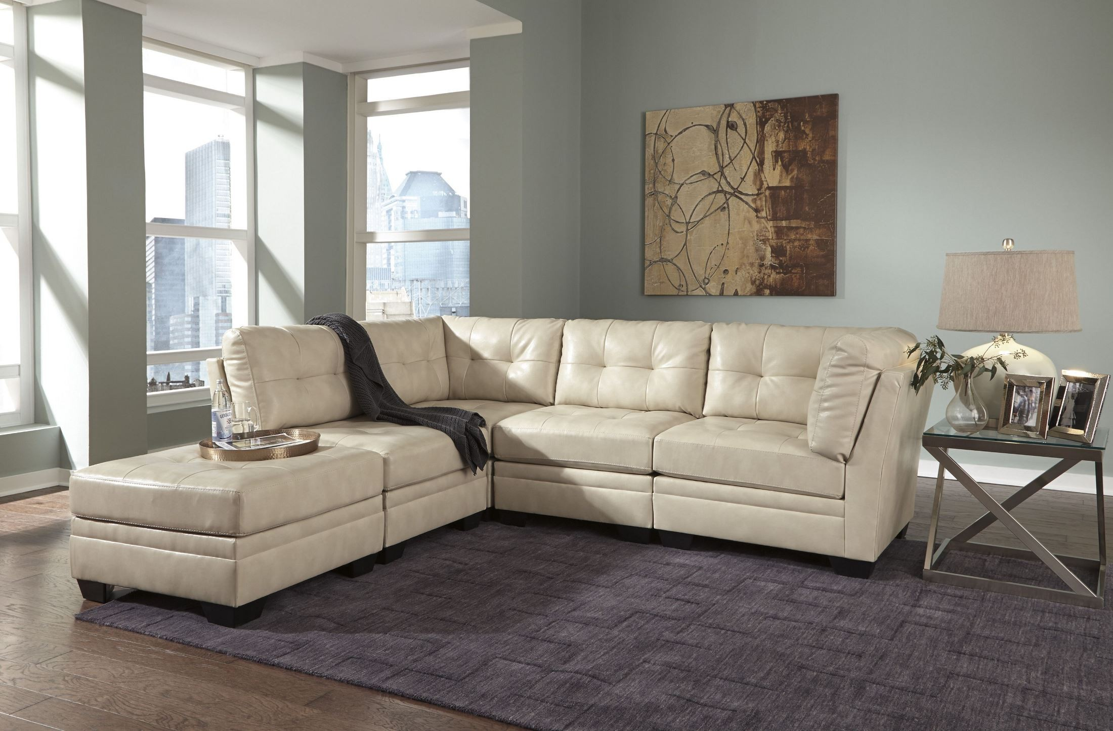 Khalil DuraBlend Taupe Sectional From Ashley 6180451
