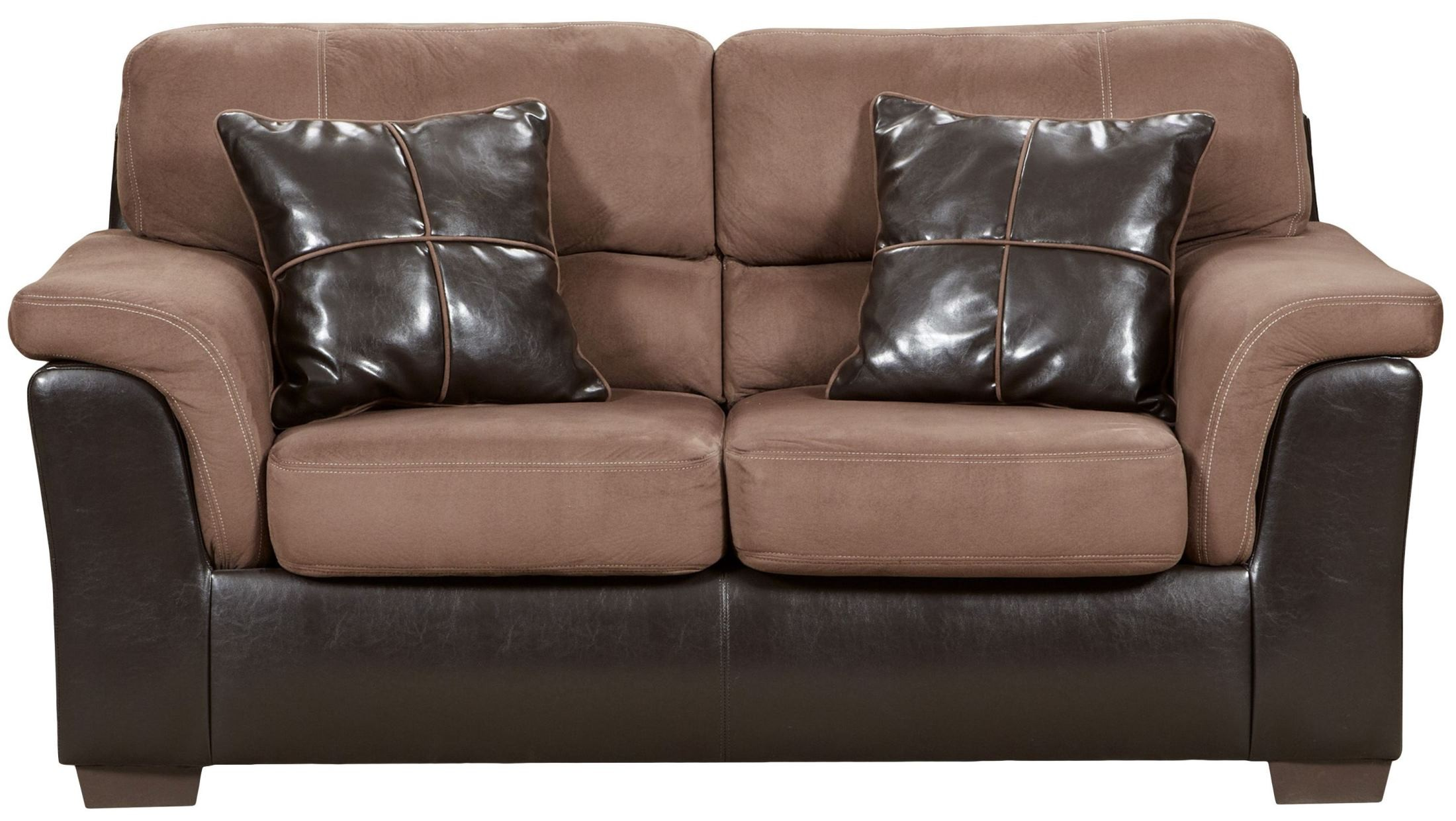 Exceptional Designs Laredo Chocolate Microfiber Loveseat From Renegade Coleman Furniture