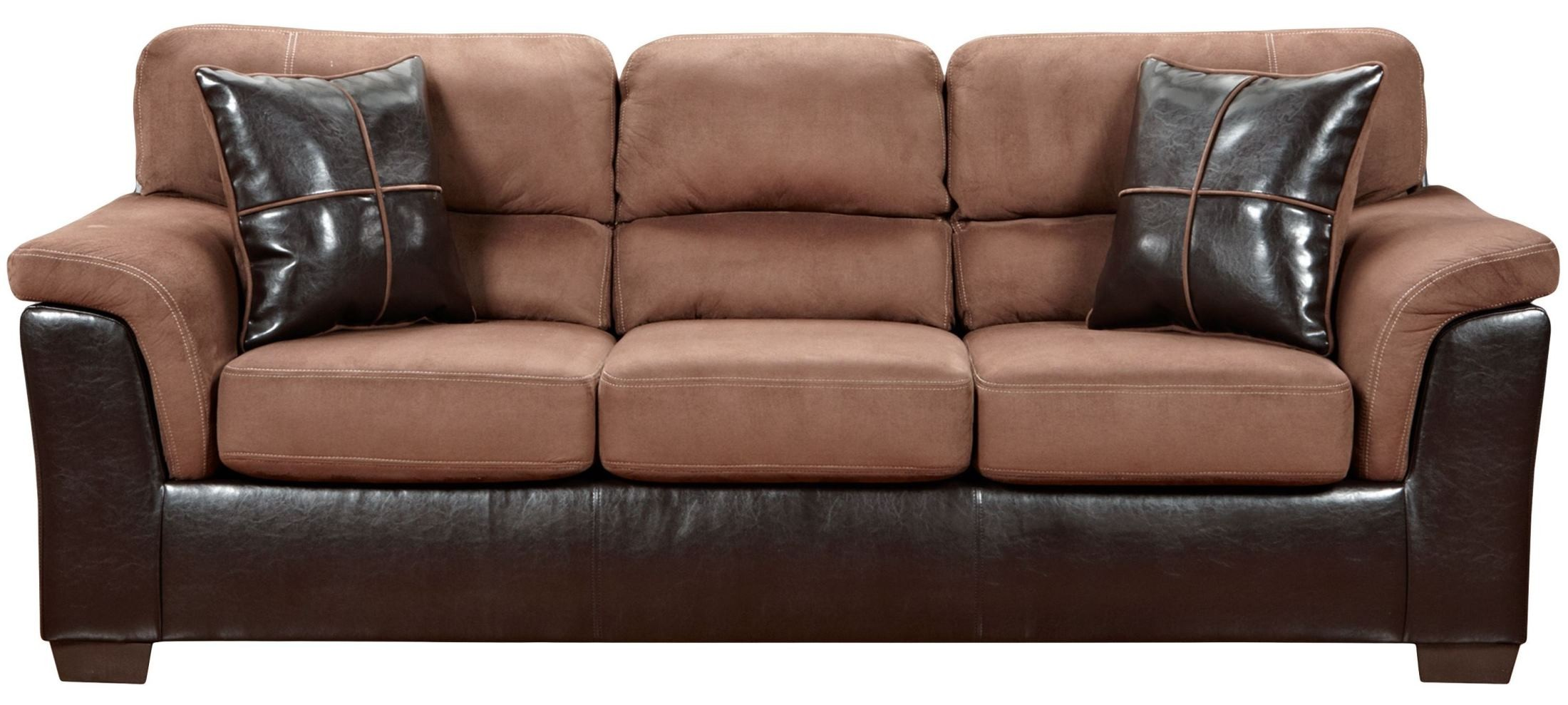 exceptional designs laredo chocolate microfiber sofa from renegade coleman furniture. Black Bedroom Furniture Sets. Home Design Ideas