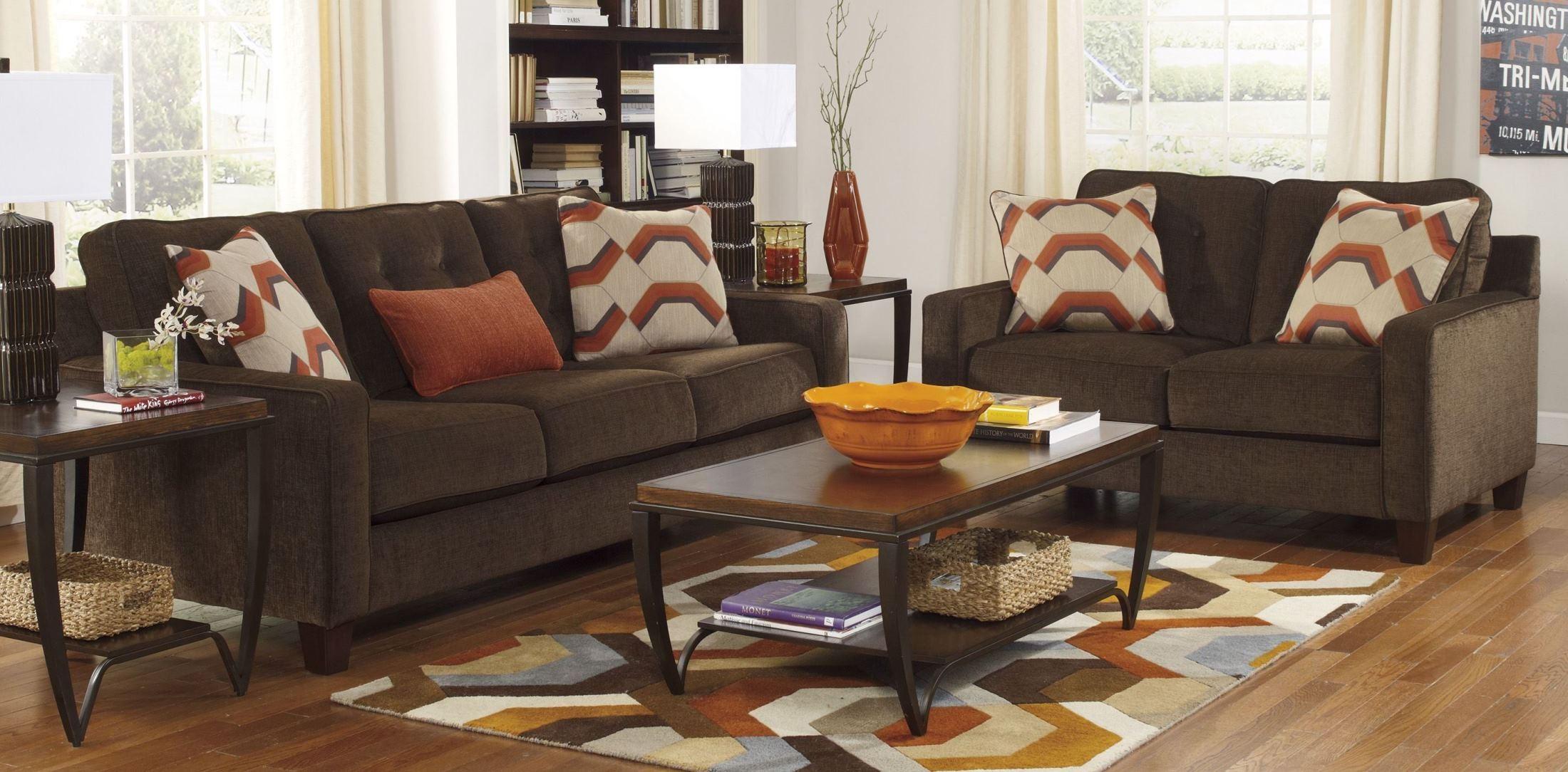 verbena chocolate living room set 6220038 ashley. Black Bedroom Furniture Sets. Home Design Ideas