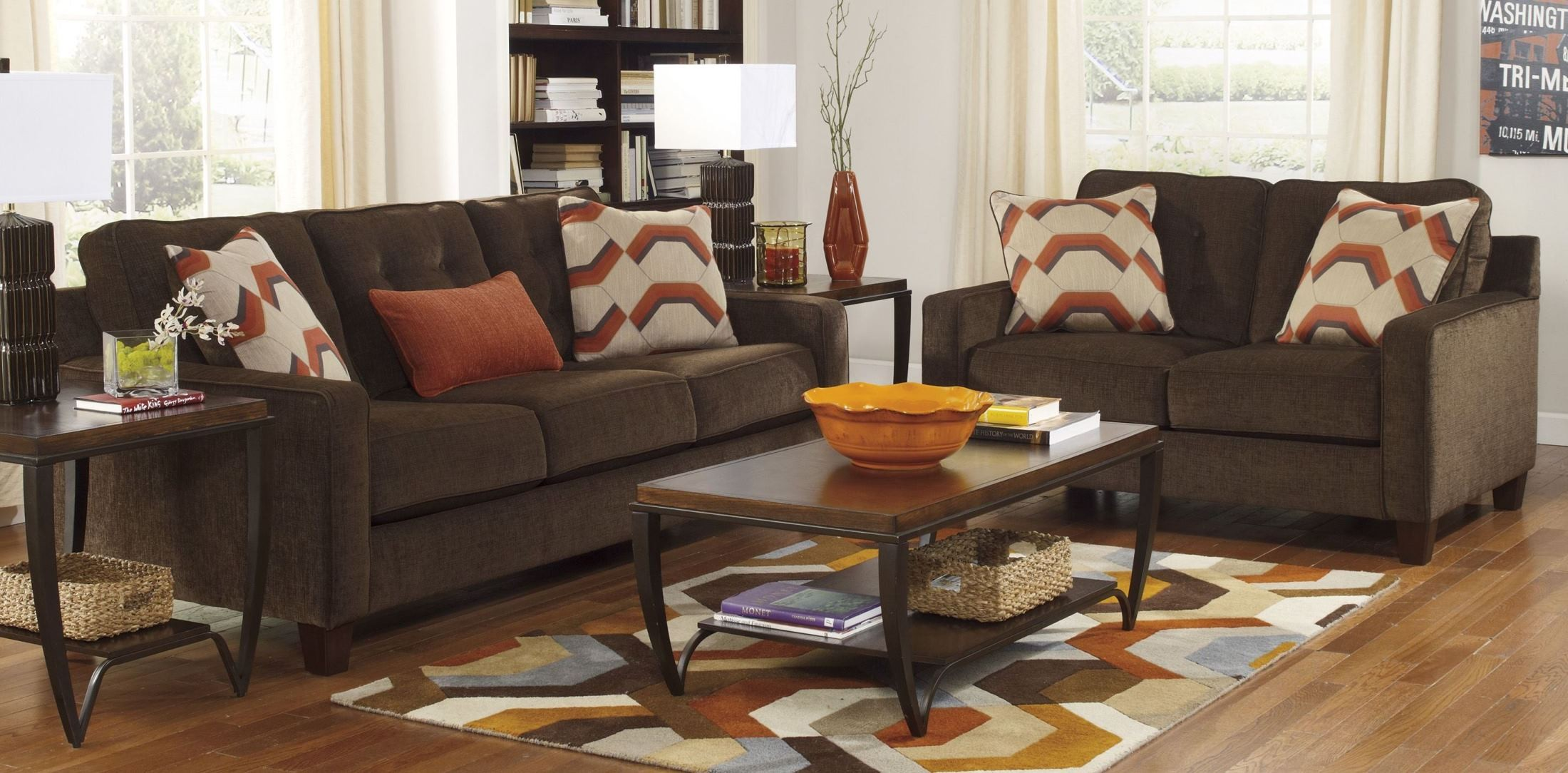 verbena chocolate living room set 6220038 ashley