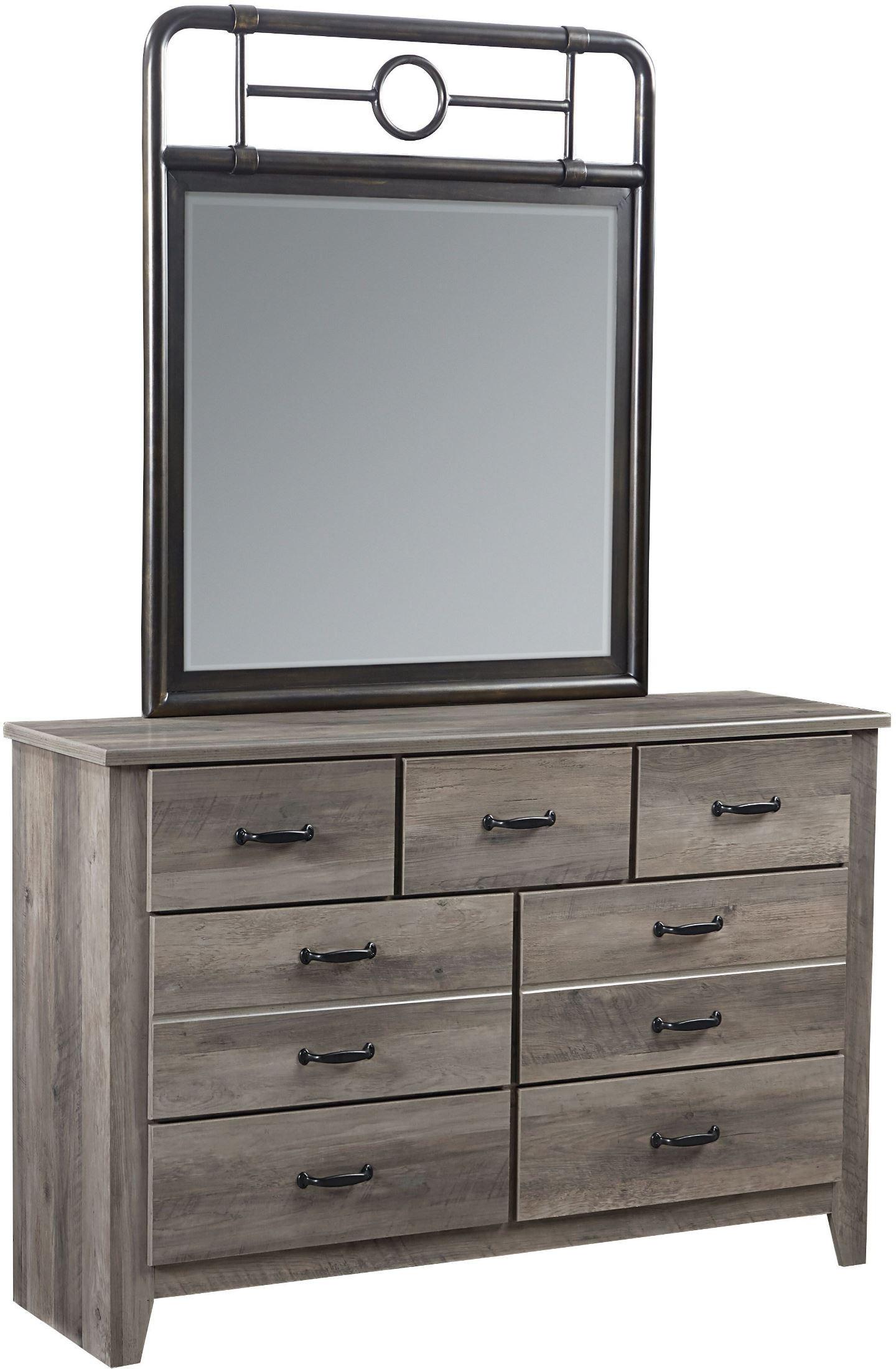 Barnett Distressed Pine Youth Metal Bedroom Set 62403 62410 Standard Furniture