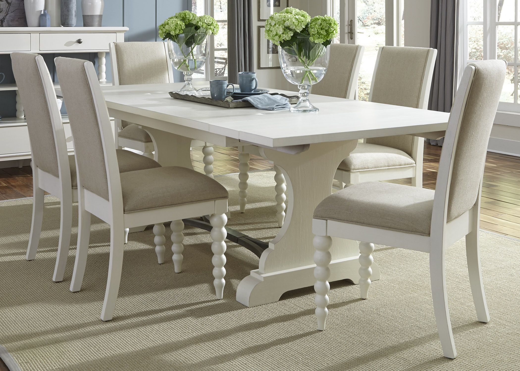 harbor view ii trestle extendable dining room set from liberty 631 t4294 coleman furniture. Black Bedroom Furniture Sets. Home Design Ideas