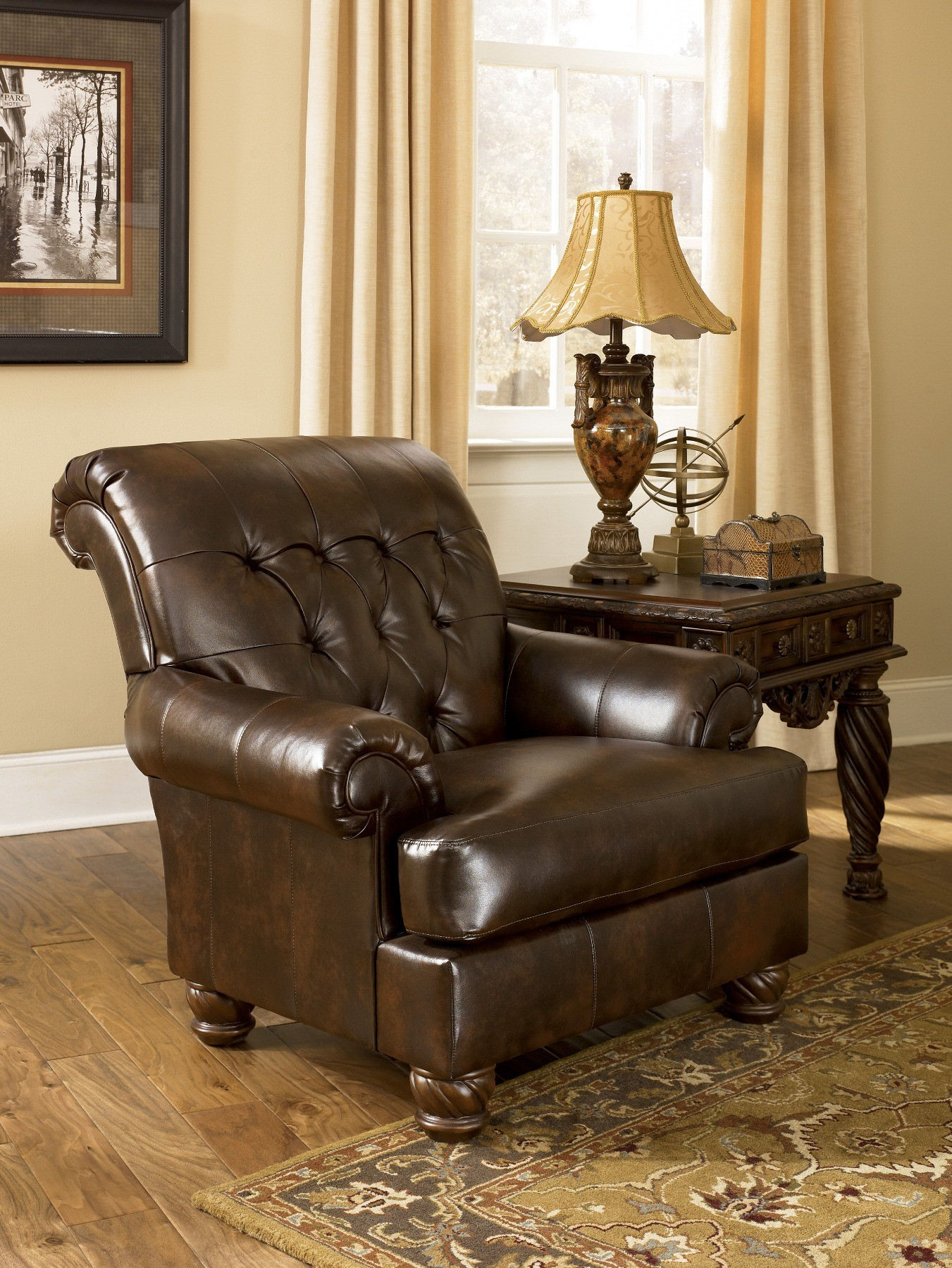 Fresco Durablend Antique Accent Chair From Ashley 6310021 Coleman Furniture