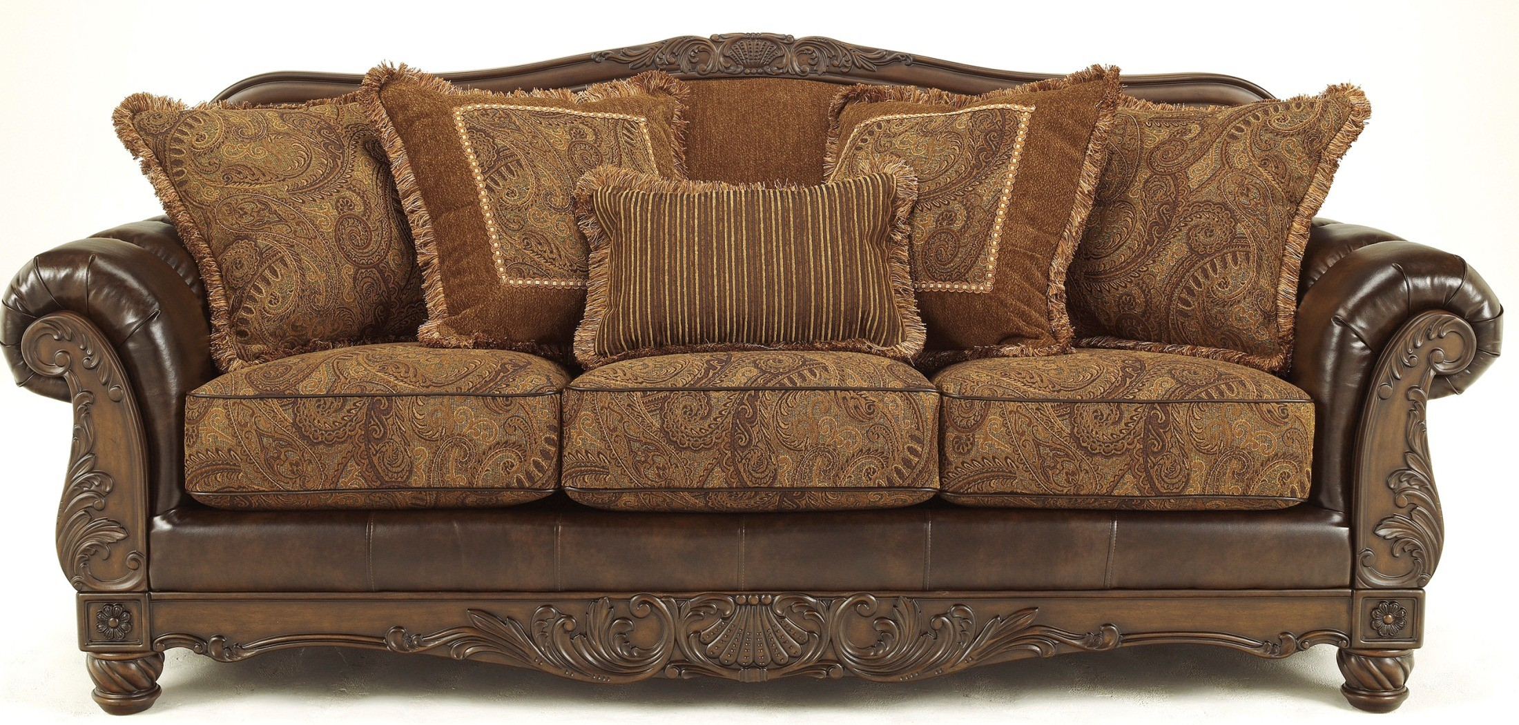 Fresco durablend antique sofa from ashley 6310038 for Front room furniture sets