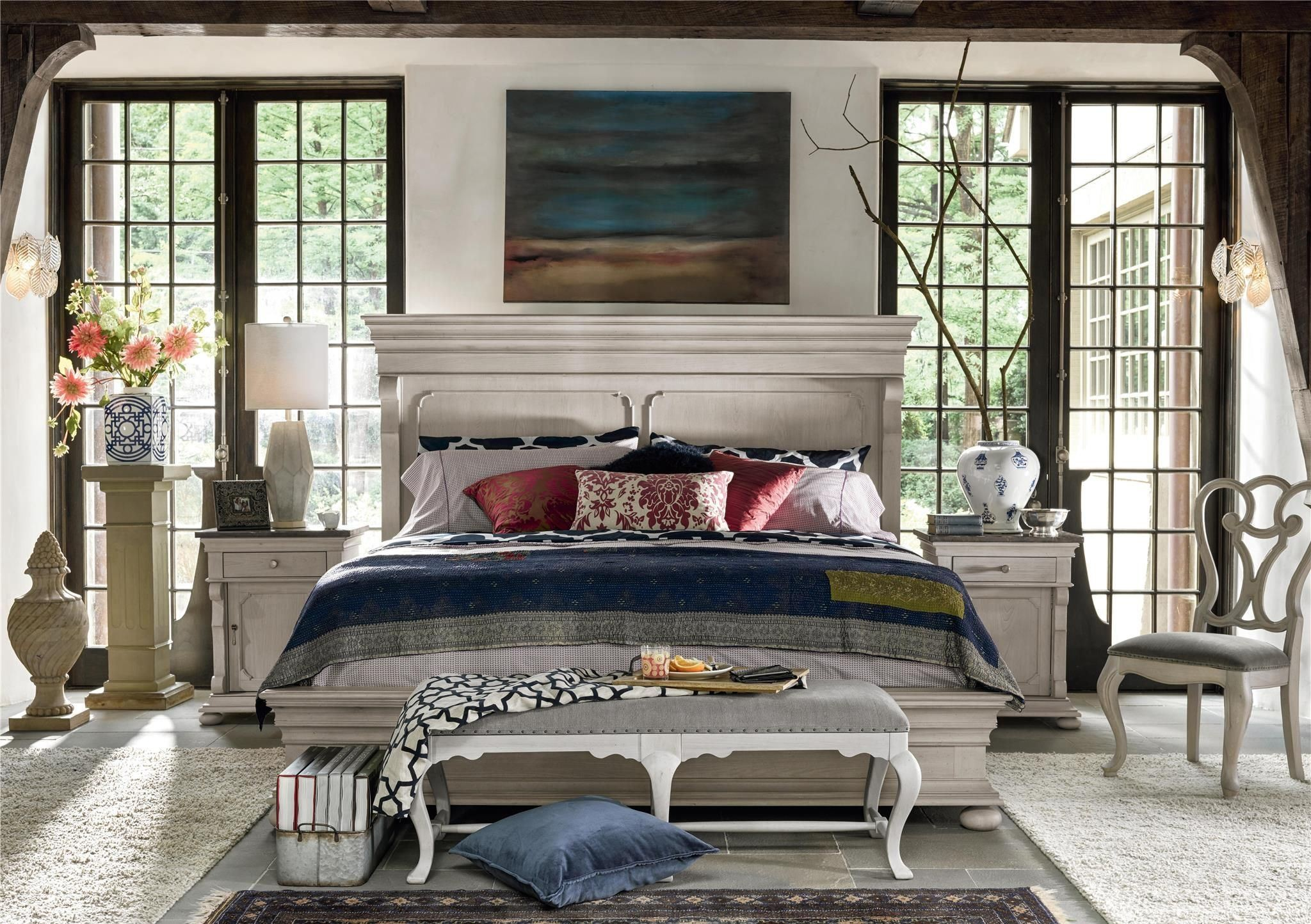 elan elm panel bedroom set 637250b universal