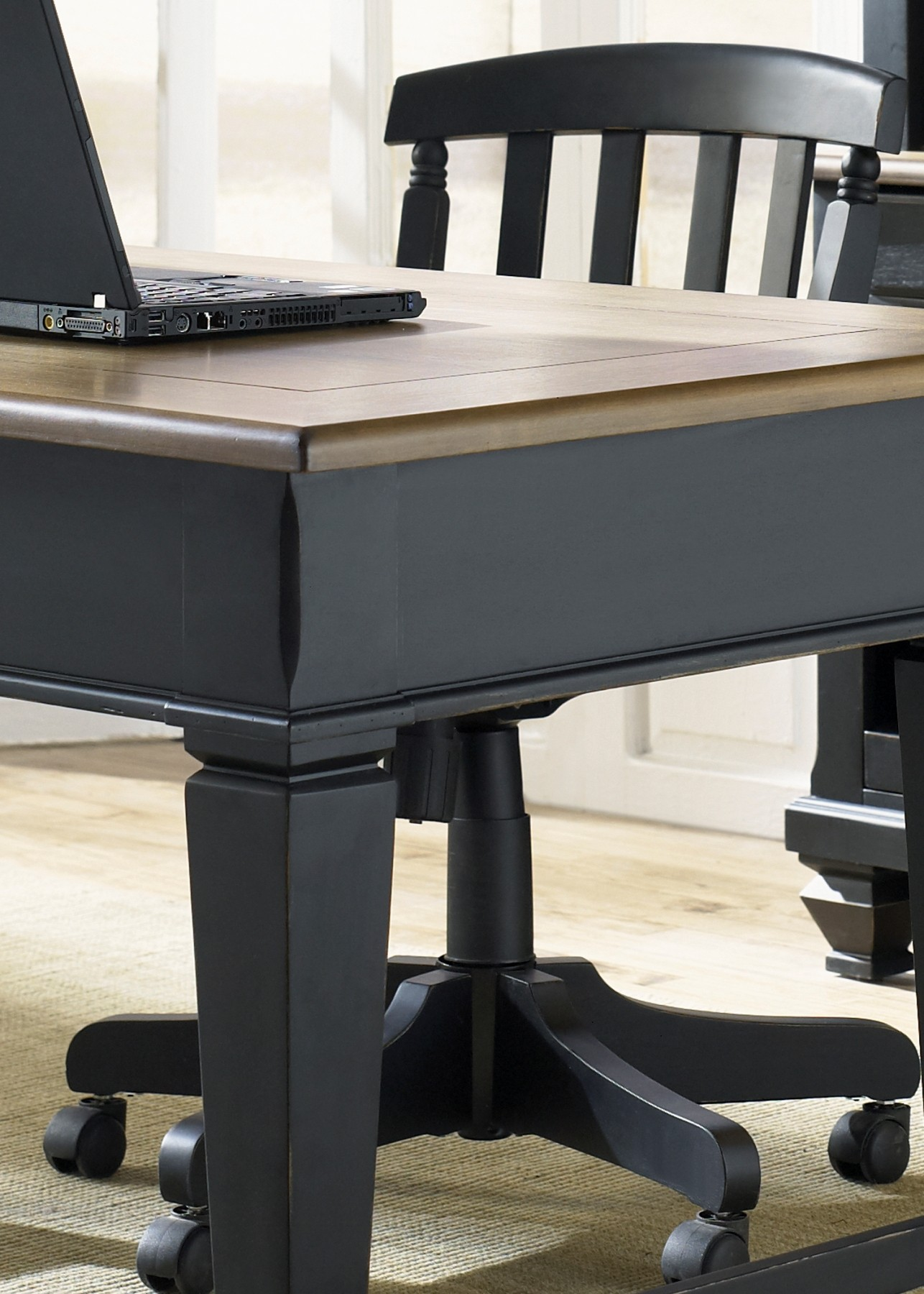 Bungalow Ii Black Jr Executive Desk From Liberty 641