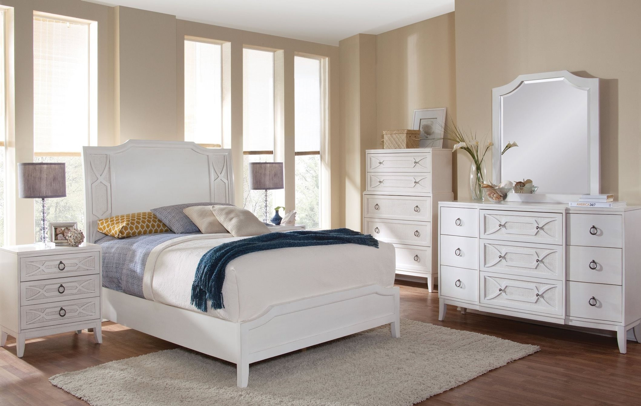 grand haven lace panel bedroom set from american woodcrafters 6410