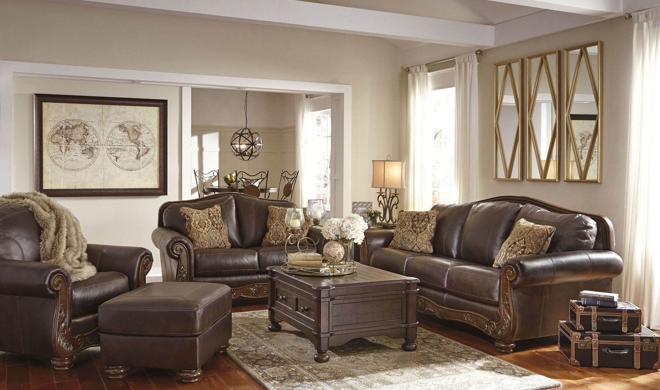 Mellwood Walnut Living Room Set 6460538 Ashley