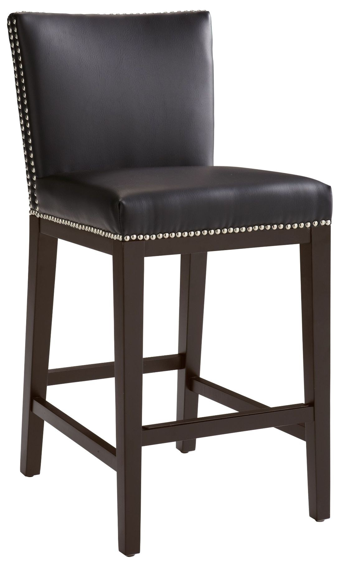 Vintage Brown Leather Counter Stool From Sunpan 65871