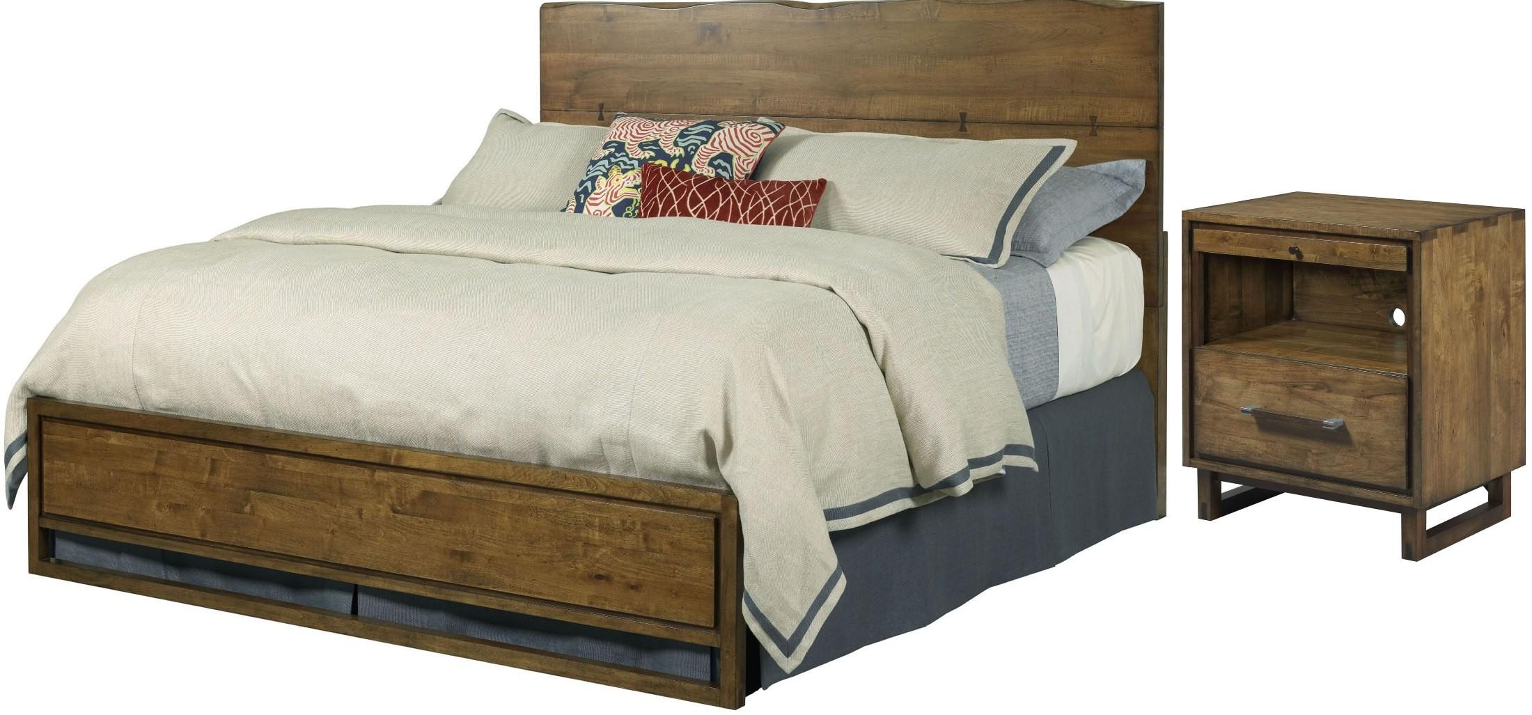 traverse brown craftsman platform bedroom set 660 304p