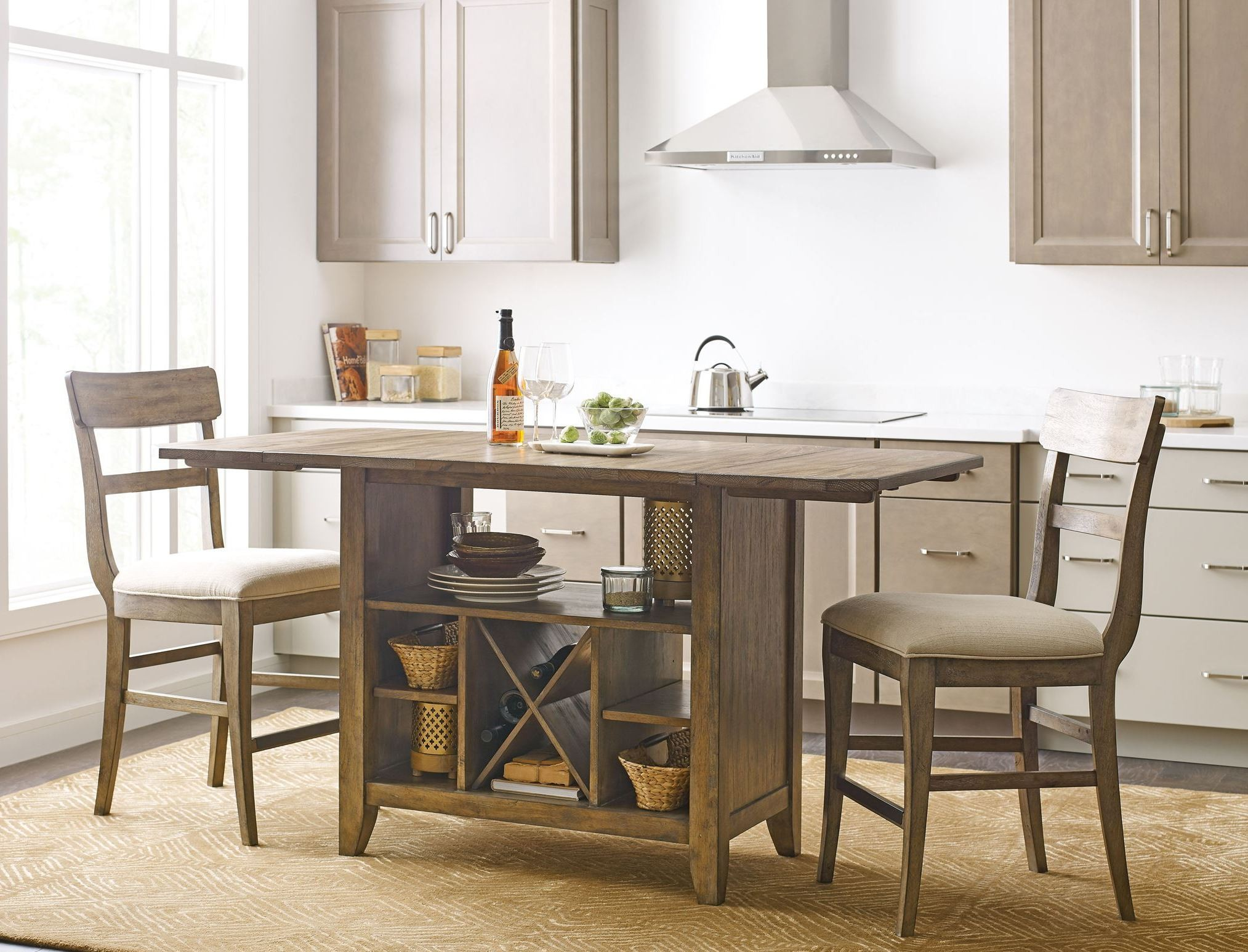 kitchen island with nook