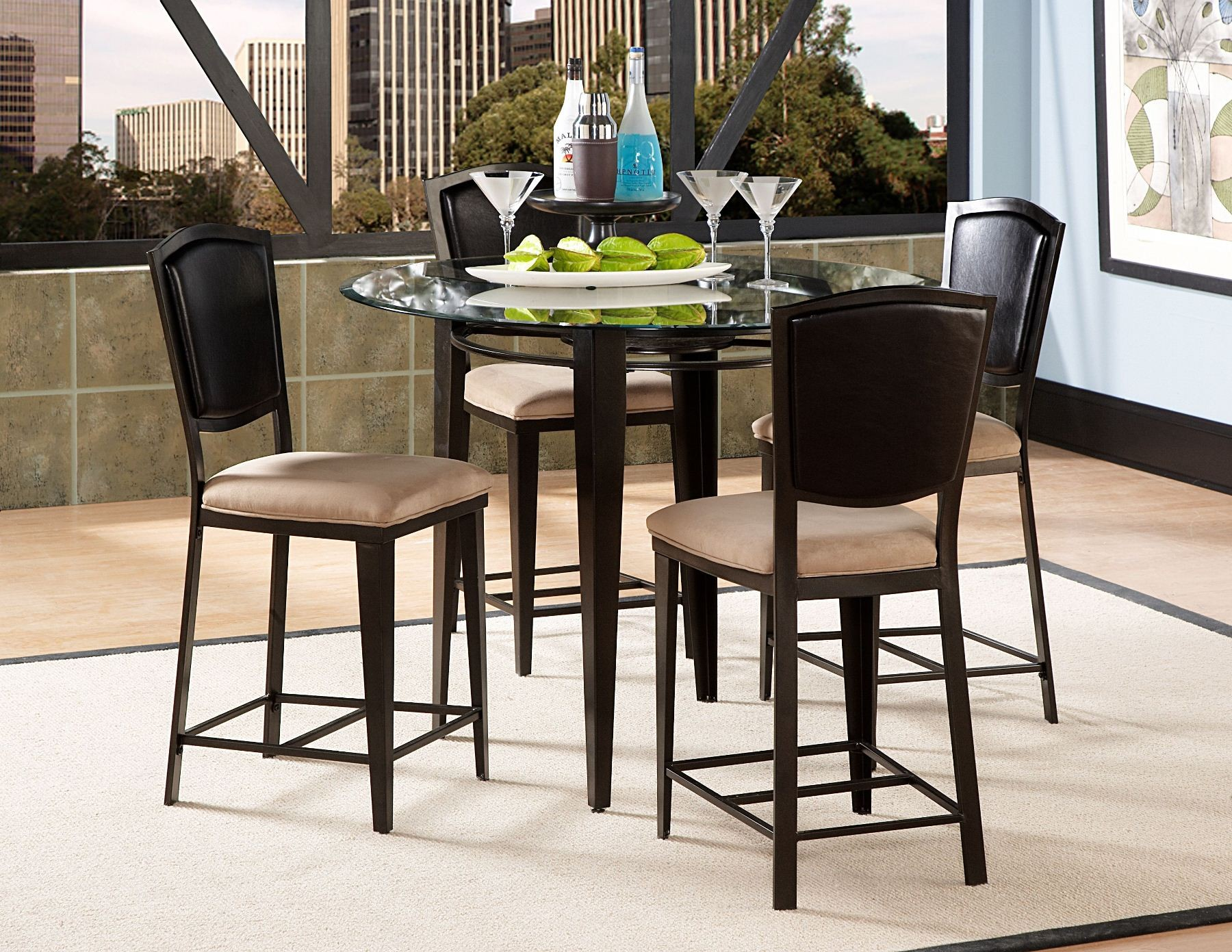 Rockdale counter height dining room set from homelegance for Counter height dining room sets
