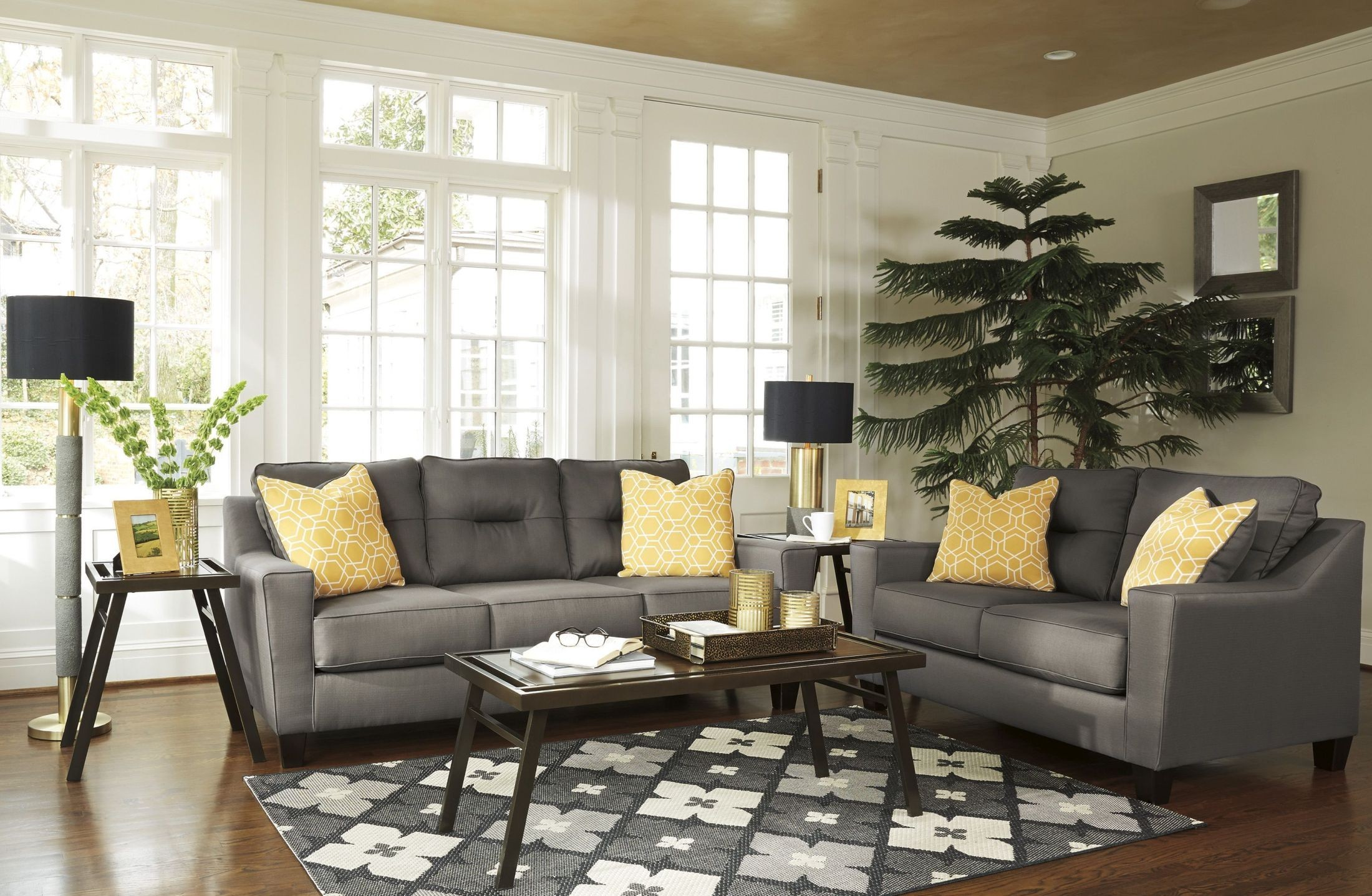 forsan nuvella gray living room set 6690238 ashley