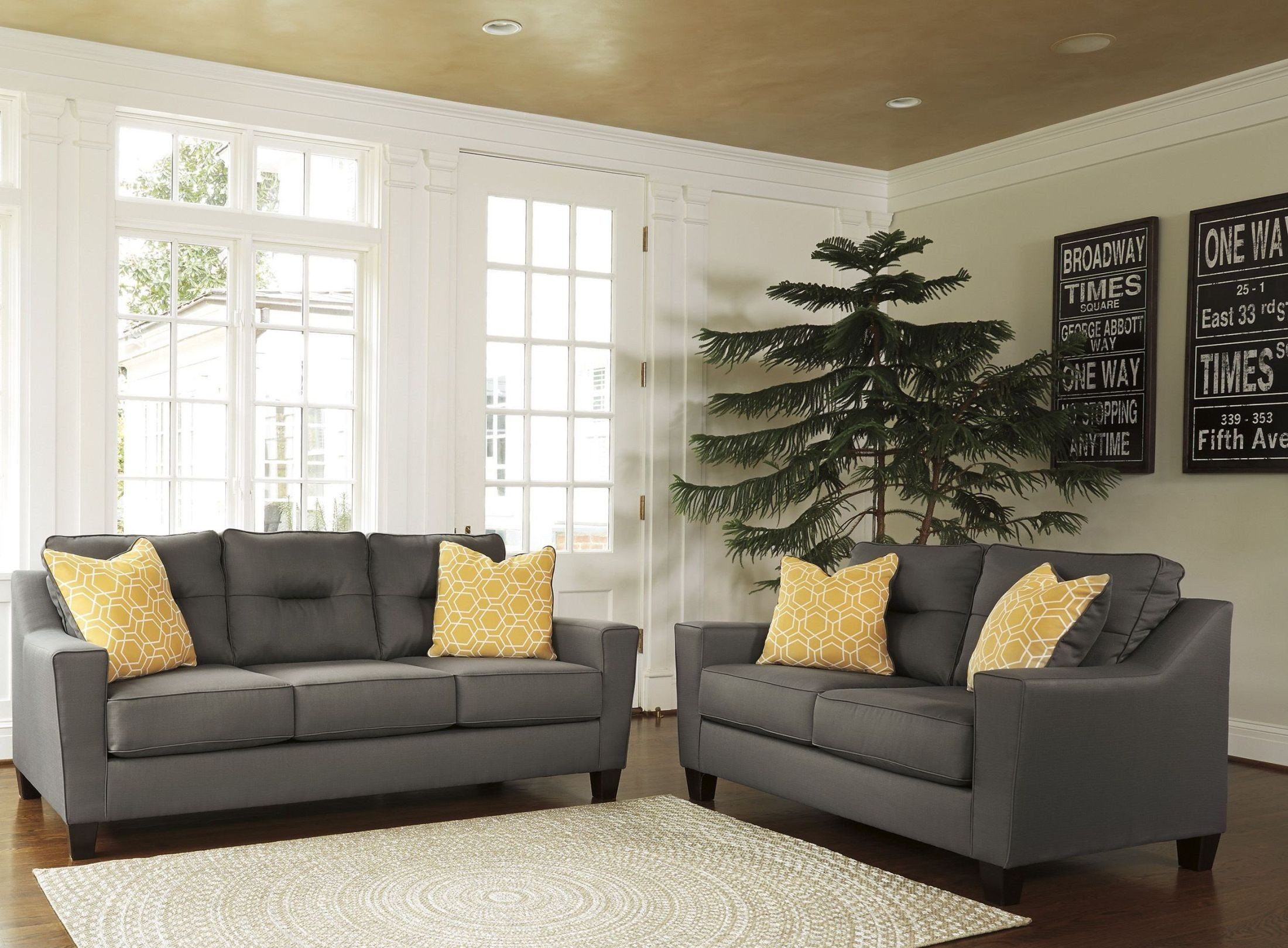 forsan nuvella gray living room set 6690238 ashley