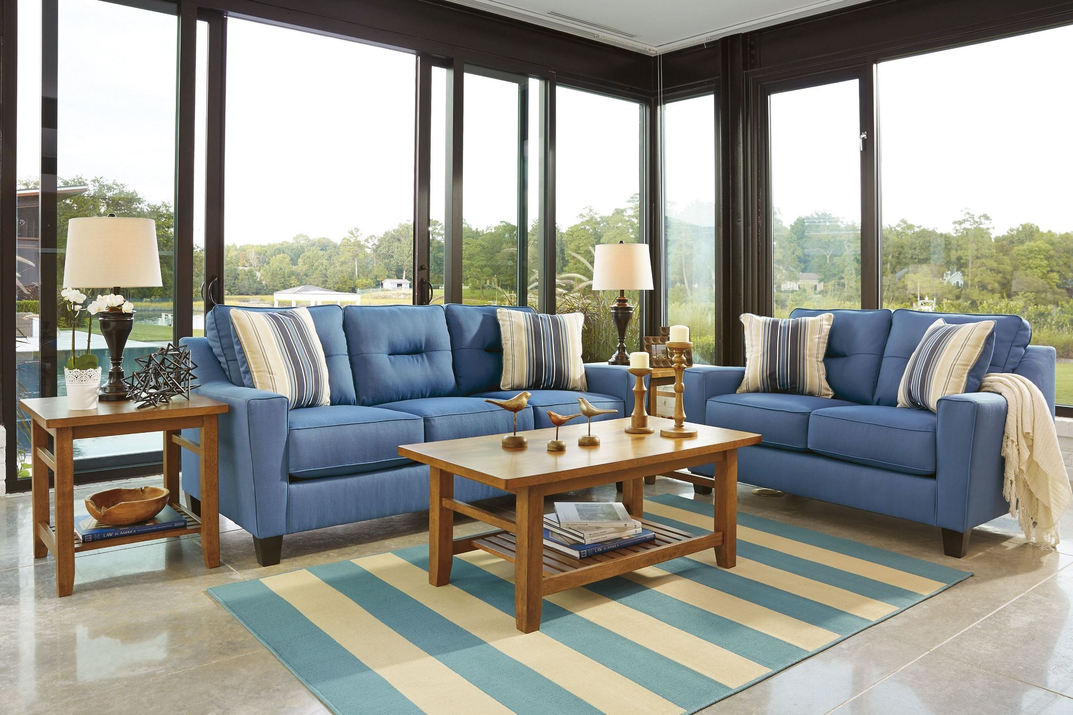 Forsan Nuvella Blue Sofa 6690338 Ashley