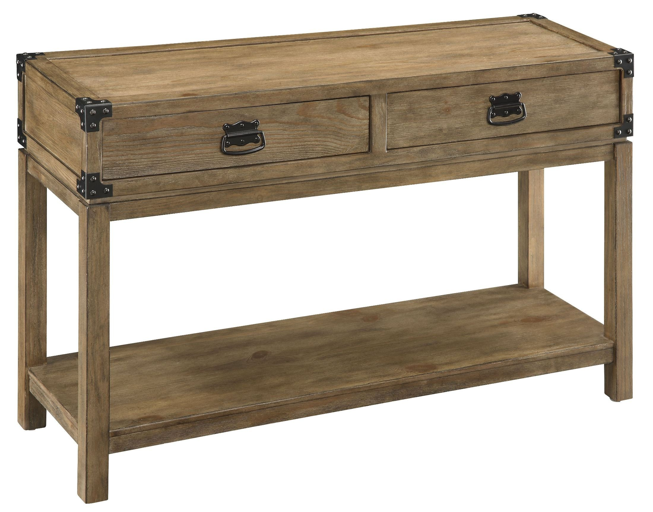 Two drawer console table from coast to