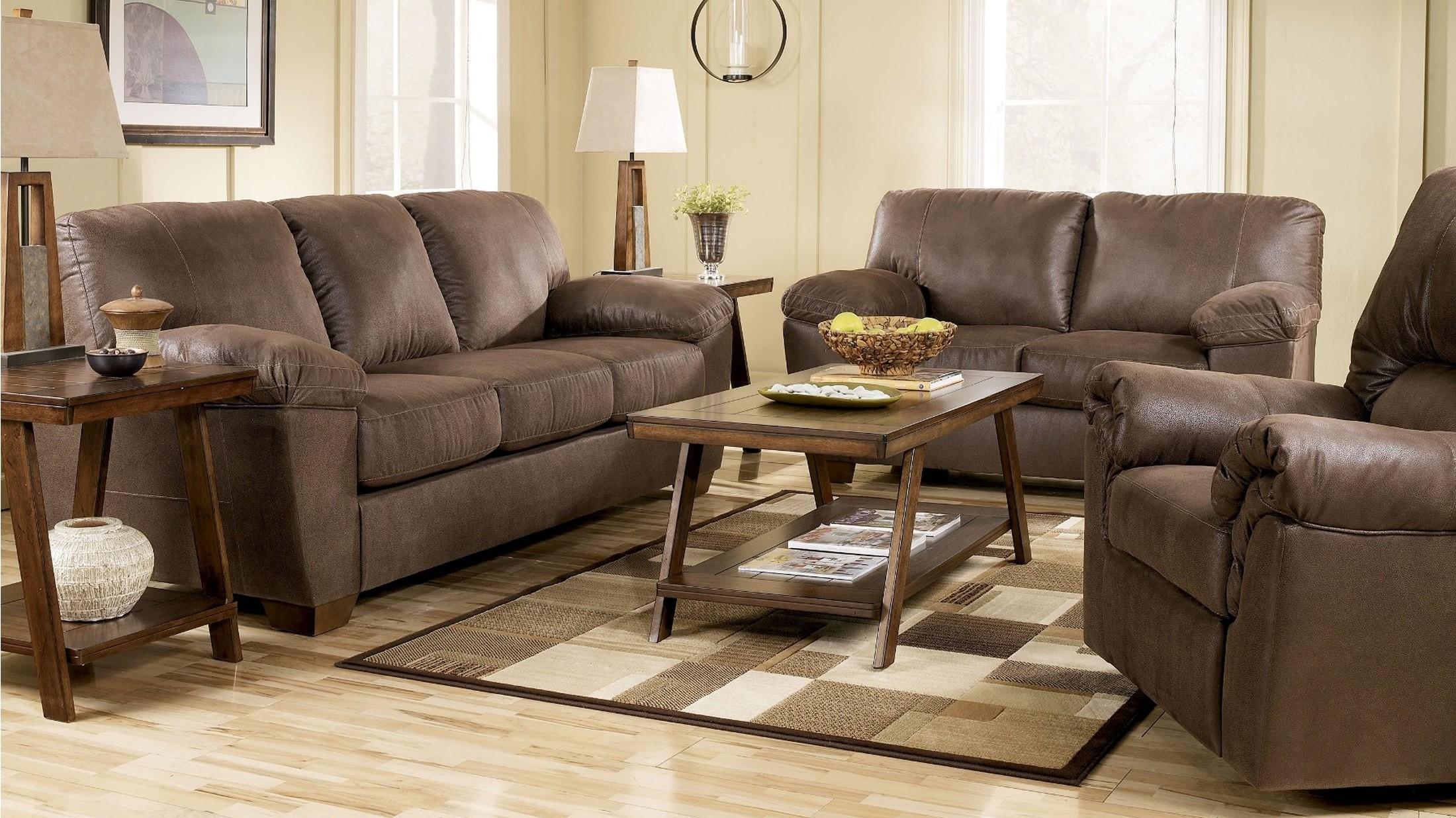 Amazon walnut living room set from ashley 67505 for Walnut furniture living room