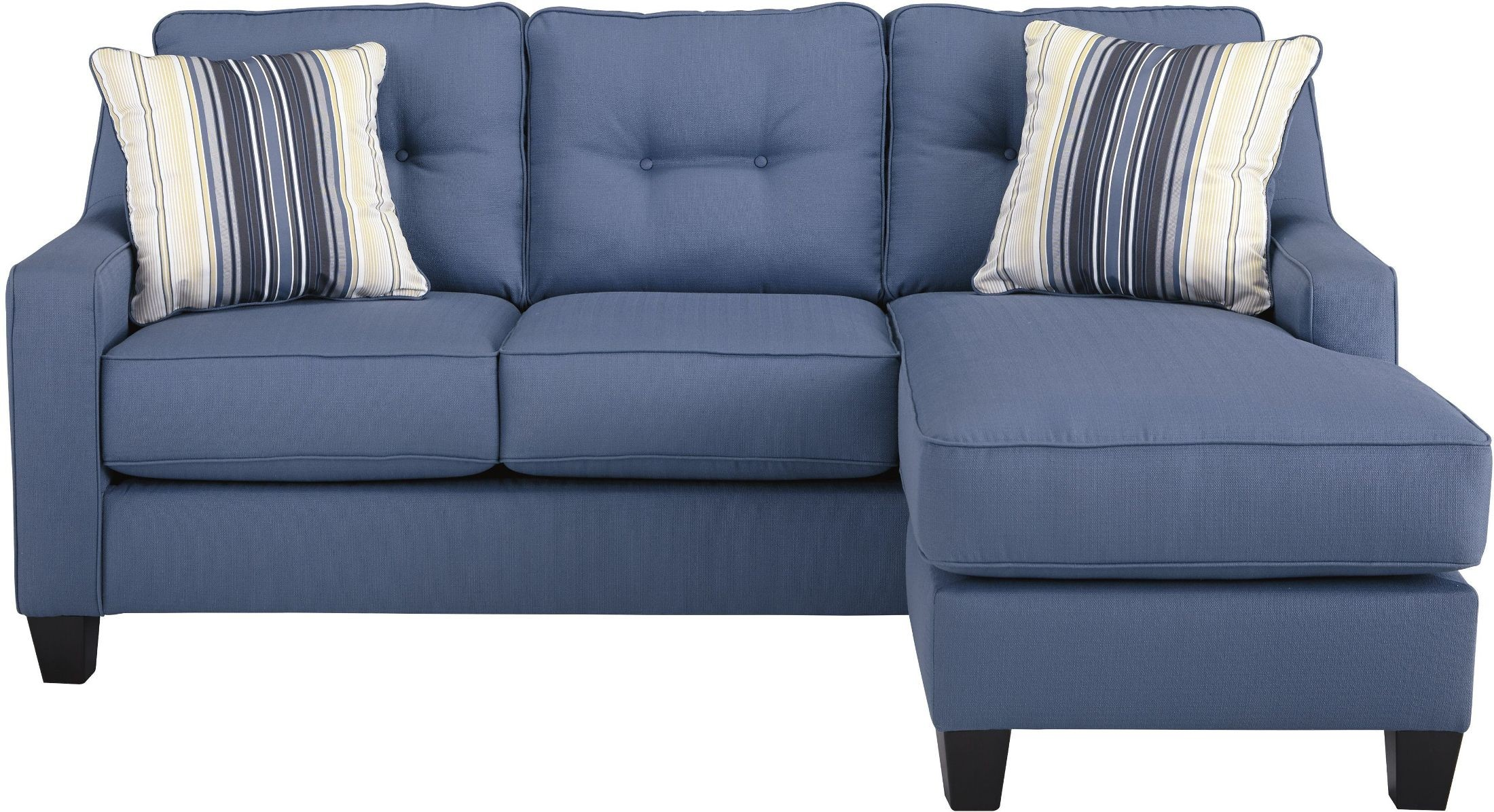 Aldie nuvella blue sofa chaise 6870318 ashley for Blue sectional with chaise
