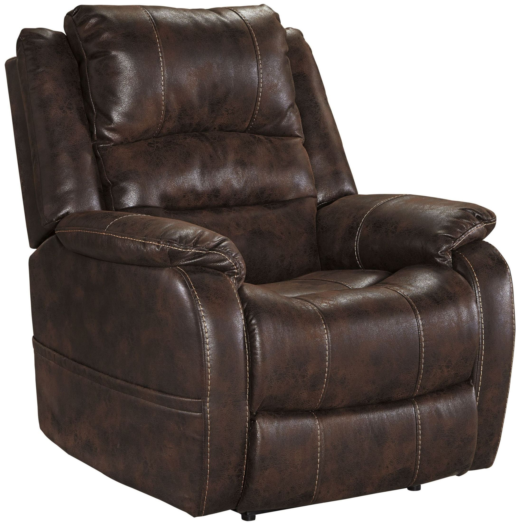 Barling Walnut Power Recliner 6880213 Ashley