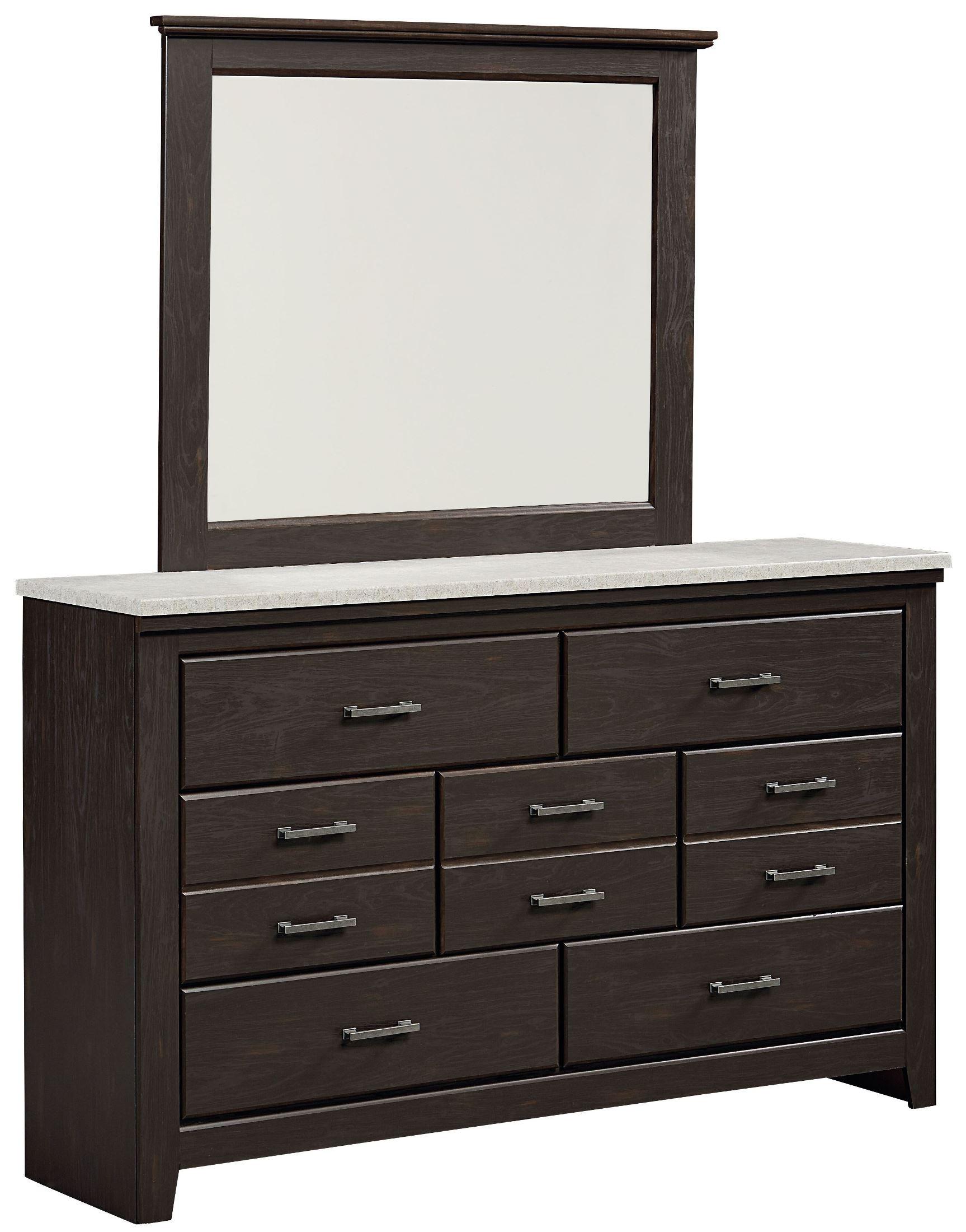 Stonehill dark brown pecan poster mansion bedroom set 693 for Dark brown bedroom furniture