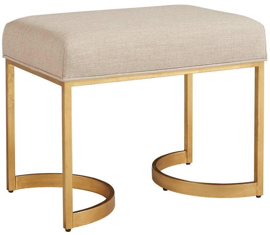 Virage Antique Gold Leaf Bed End Bench 696 53 72 Stanley Furniture