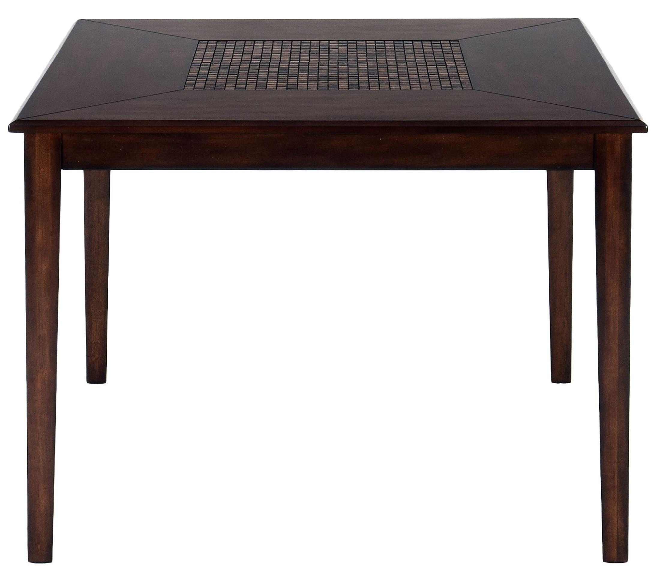Baroque brown mosaic inlay counter height dining table for Baroque dining table set