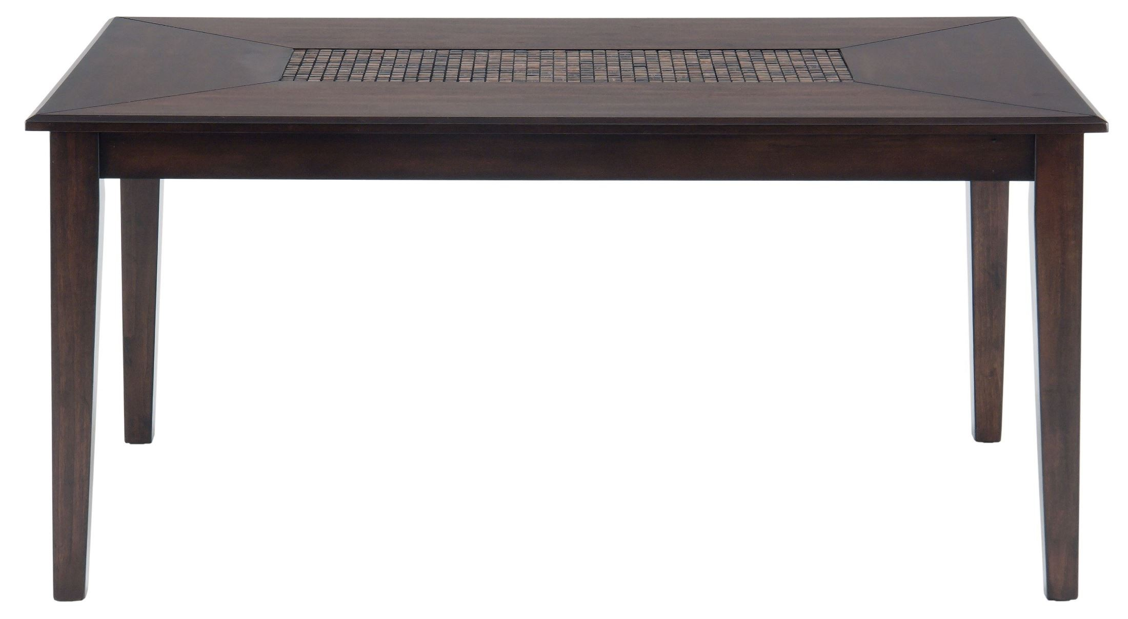 Baroque brown mosaic inlay dining table 697 64 jofran for Baroque dining table set