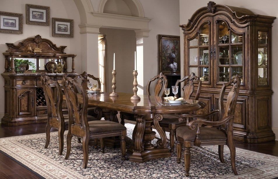 San Mateo Extendable Dining Room Set From Pulaski 662243 662242 Coleman F