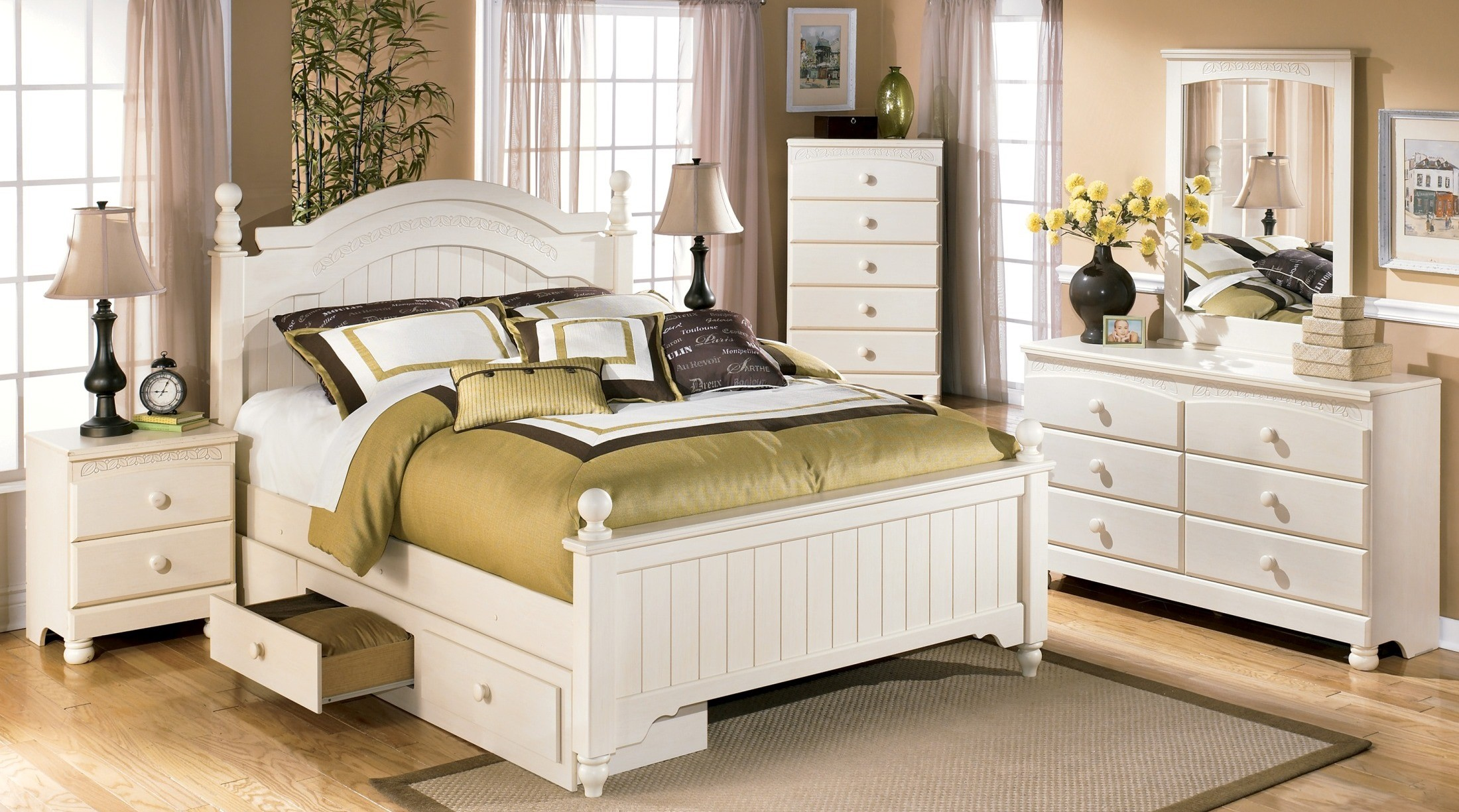 Cottage retreat youth poster storage bedroom set from ashley coleman furniture Cottage retreat bedroom set