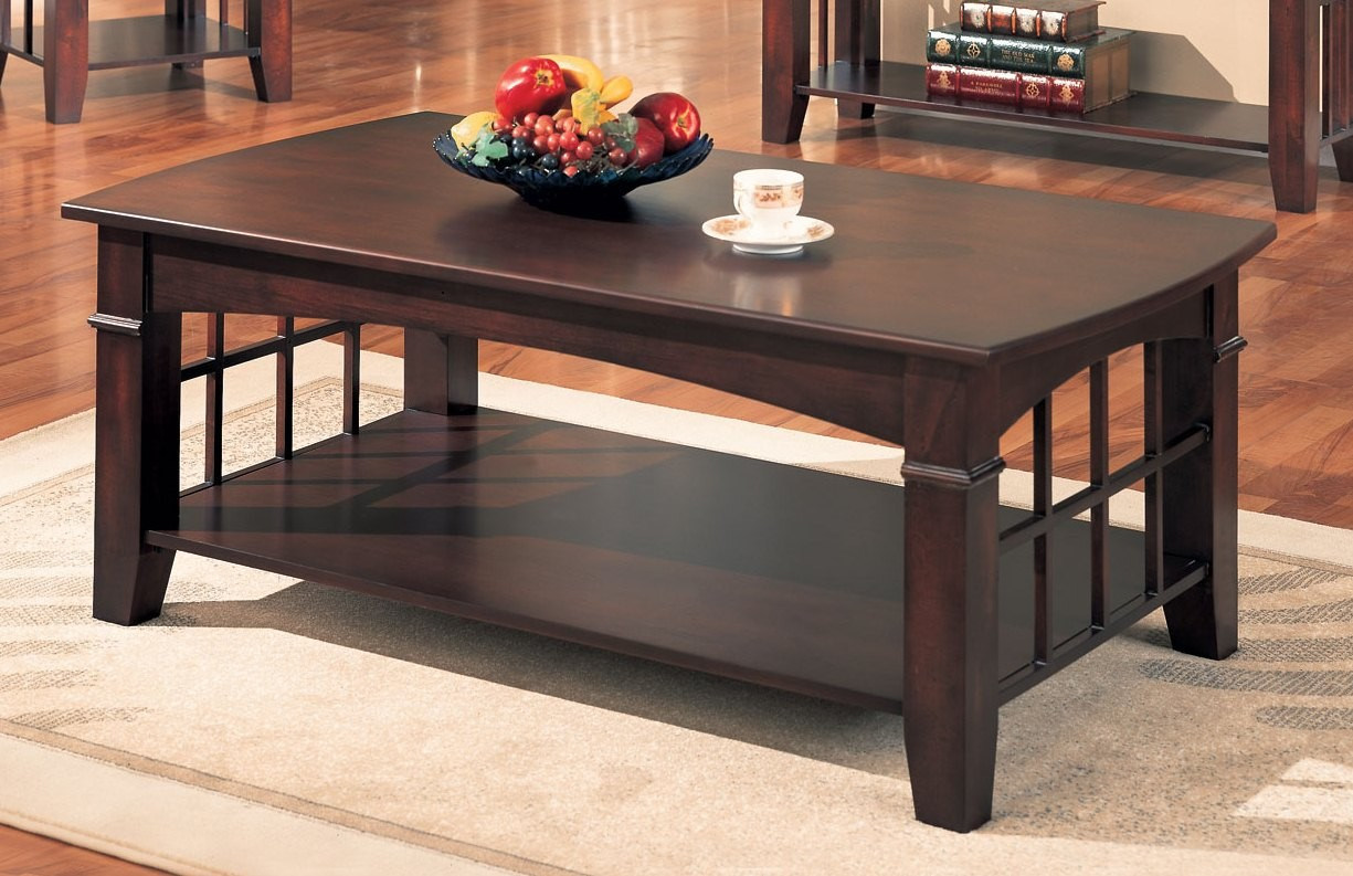 Abernathy rectangular coffee table from coaster 700008 for Abernathy house