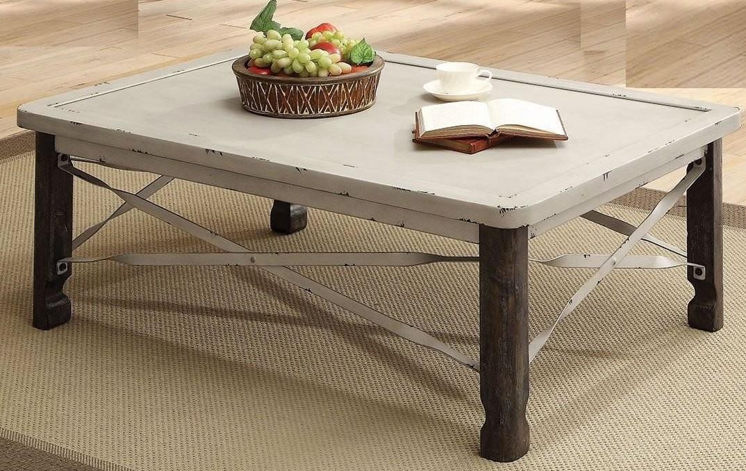 Antique White Coffee Table 700495 Coaster Furniture