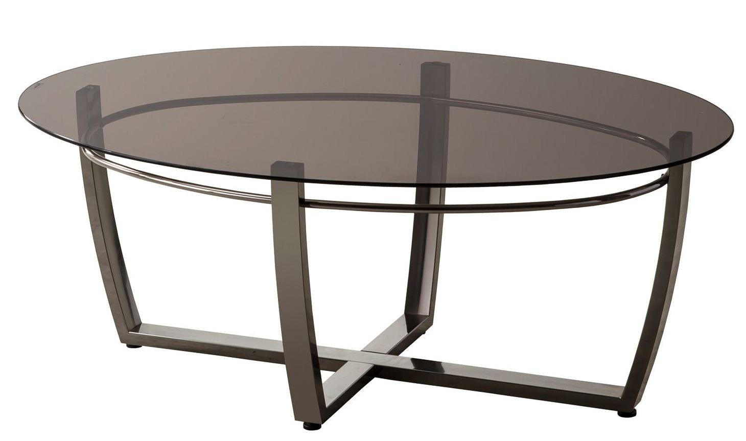 702278 Black Nickel Oval Shape Coffee Table 702278 Coaster