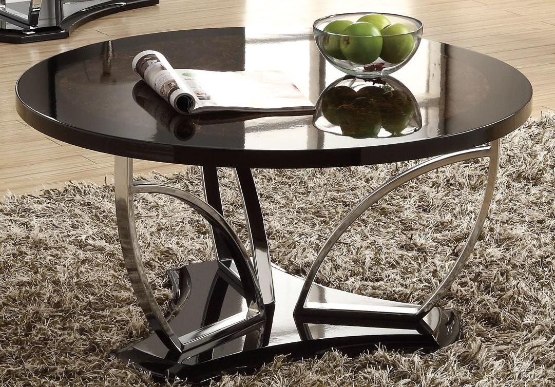 Brown Black Coffee Table 702328 Coaster Furniture