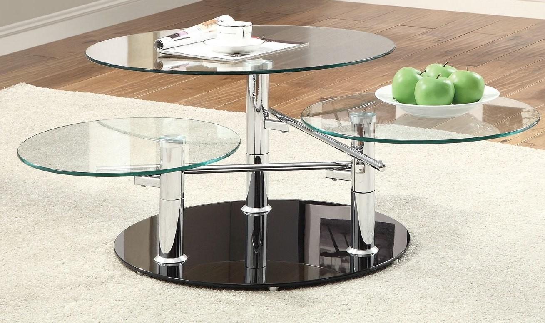 Black Chrome Coffee Table 702708 Coaster Furniture