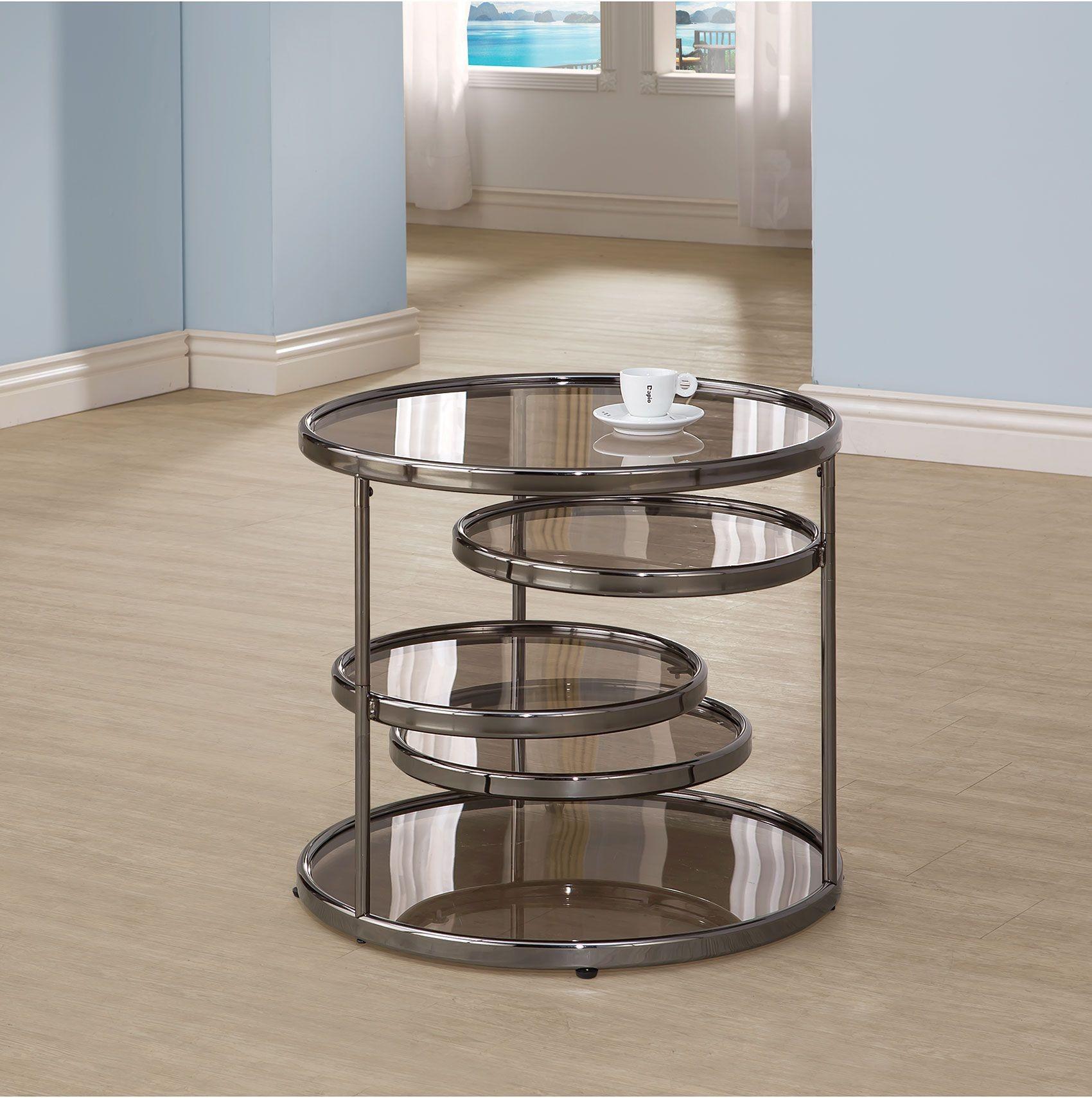 Black Nickel Coffee Table 703458 Coaster