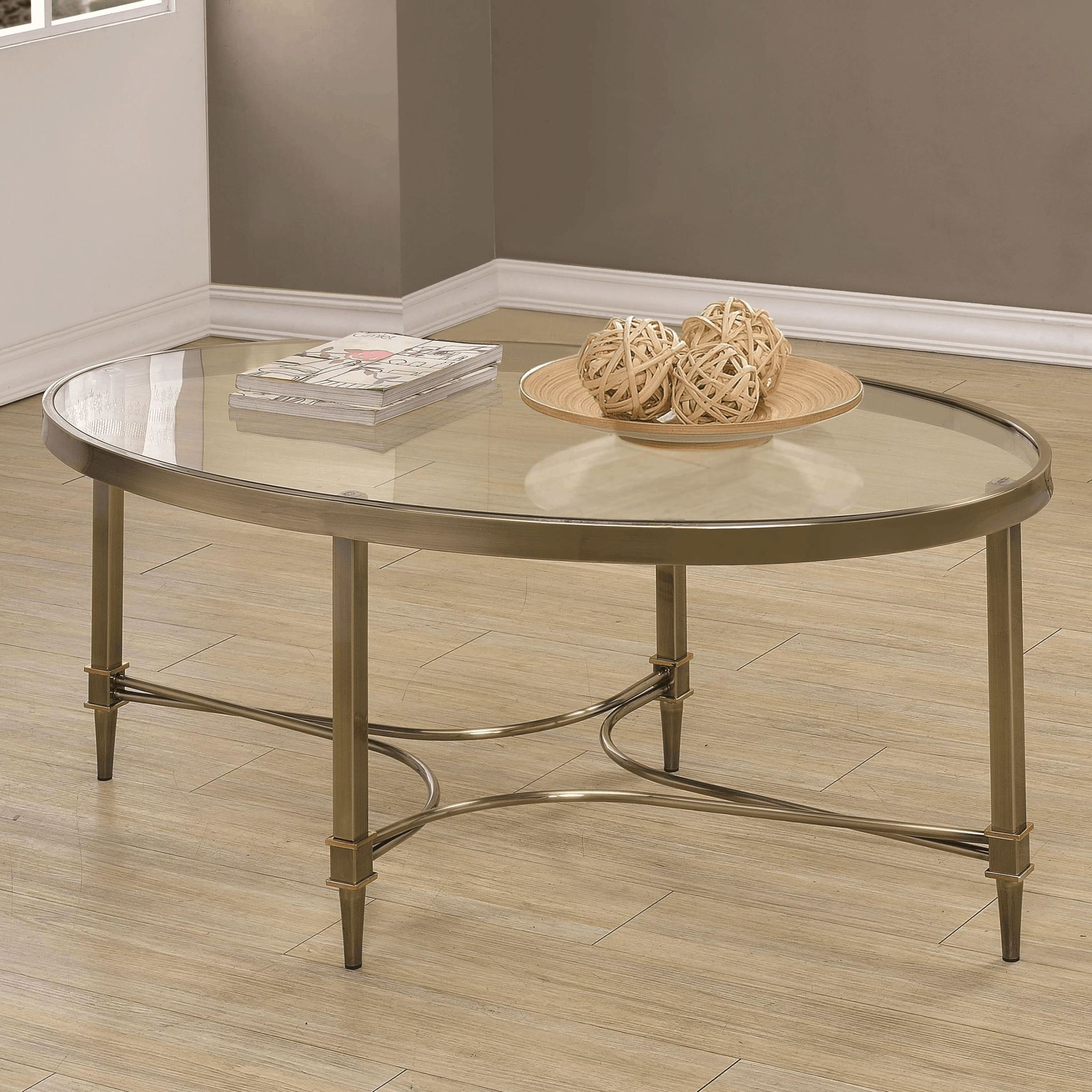 703508 oval glass top coffee table 703508 coaster