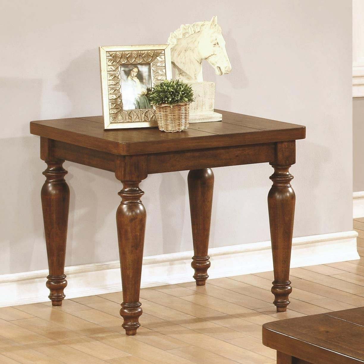 Rustic brown occasional table set from coaster