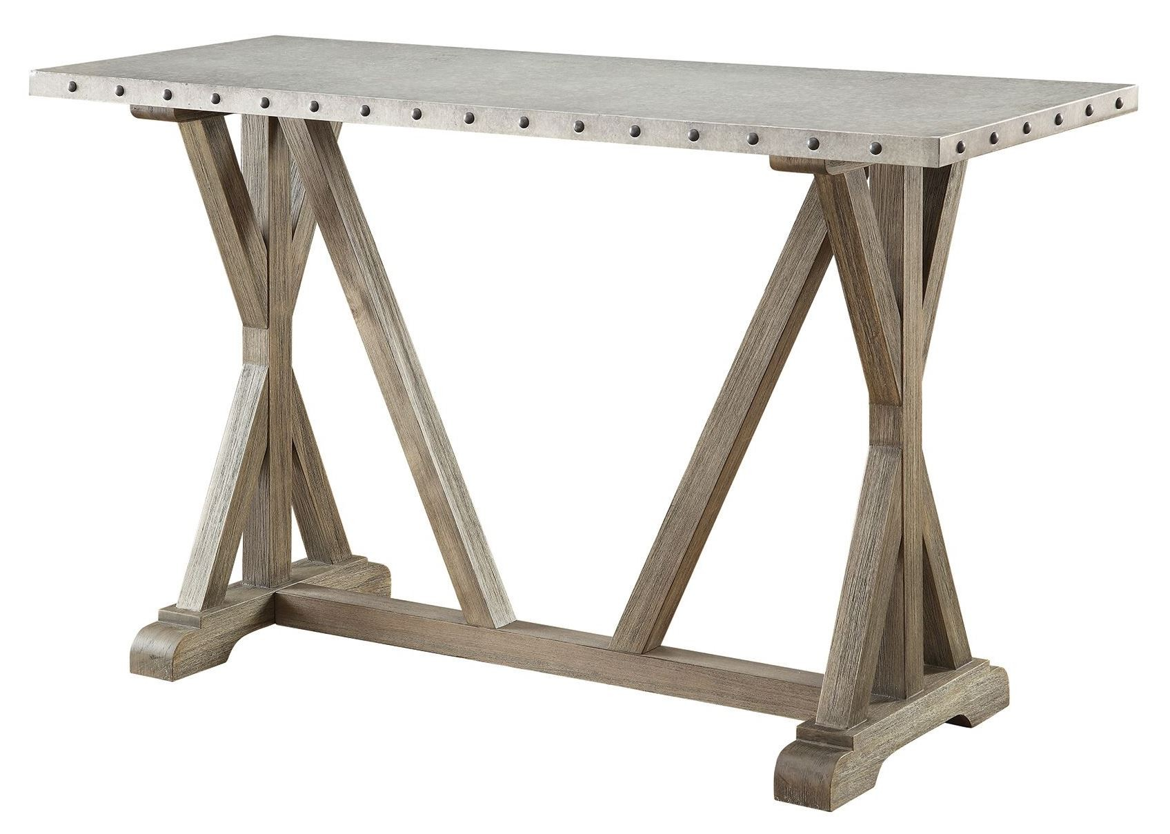 Driftwood sofa table from coaster 703749 coleman furniture for 5 sofa table