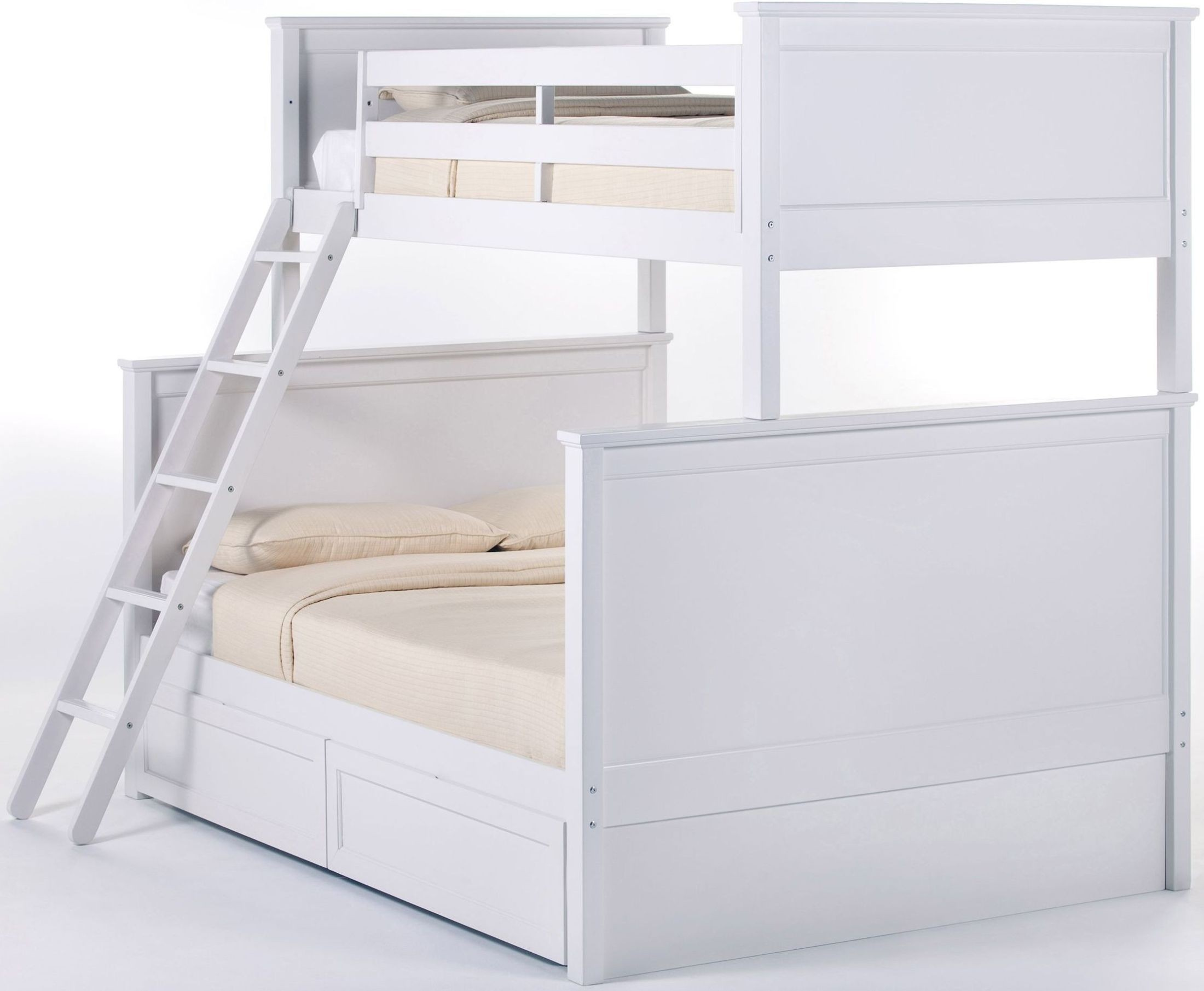 school house white twin over full bunk bed with storage 7040ns ne kids. Black Bedroom Furniture Sets. Home Design Ideas