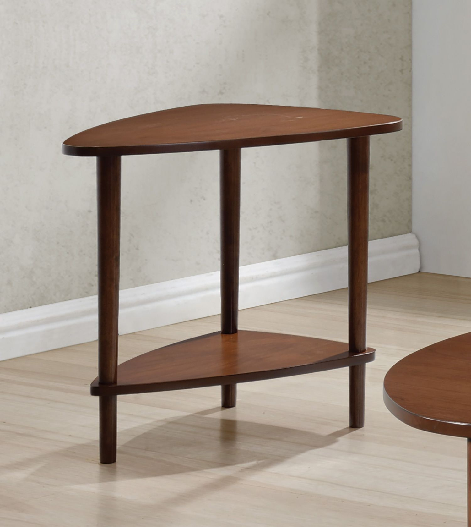Walnut Guitar Pick End Table from Coaster