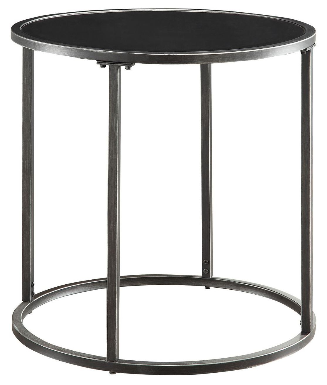 Black Glass Top End Table From Coaster 704397 Coleman Furniture